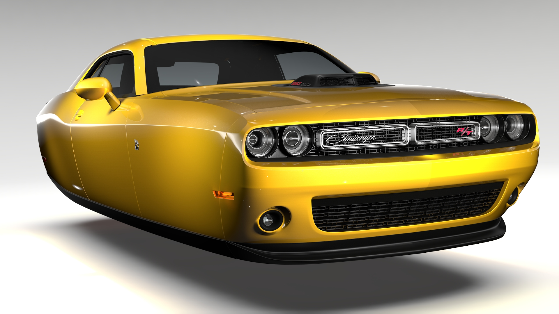 dodge challenger 392 shaker (lc) 2016 flying 3d model 3ds max fbx c4d lwo ma mb hrc xsi obj 220596