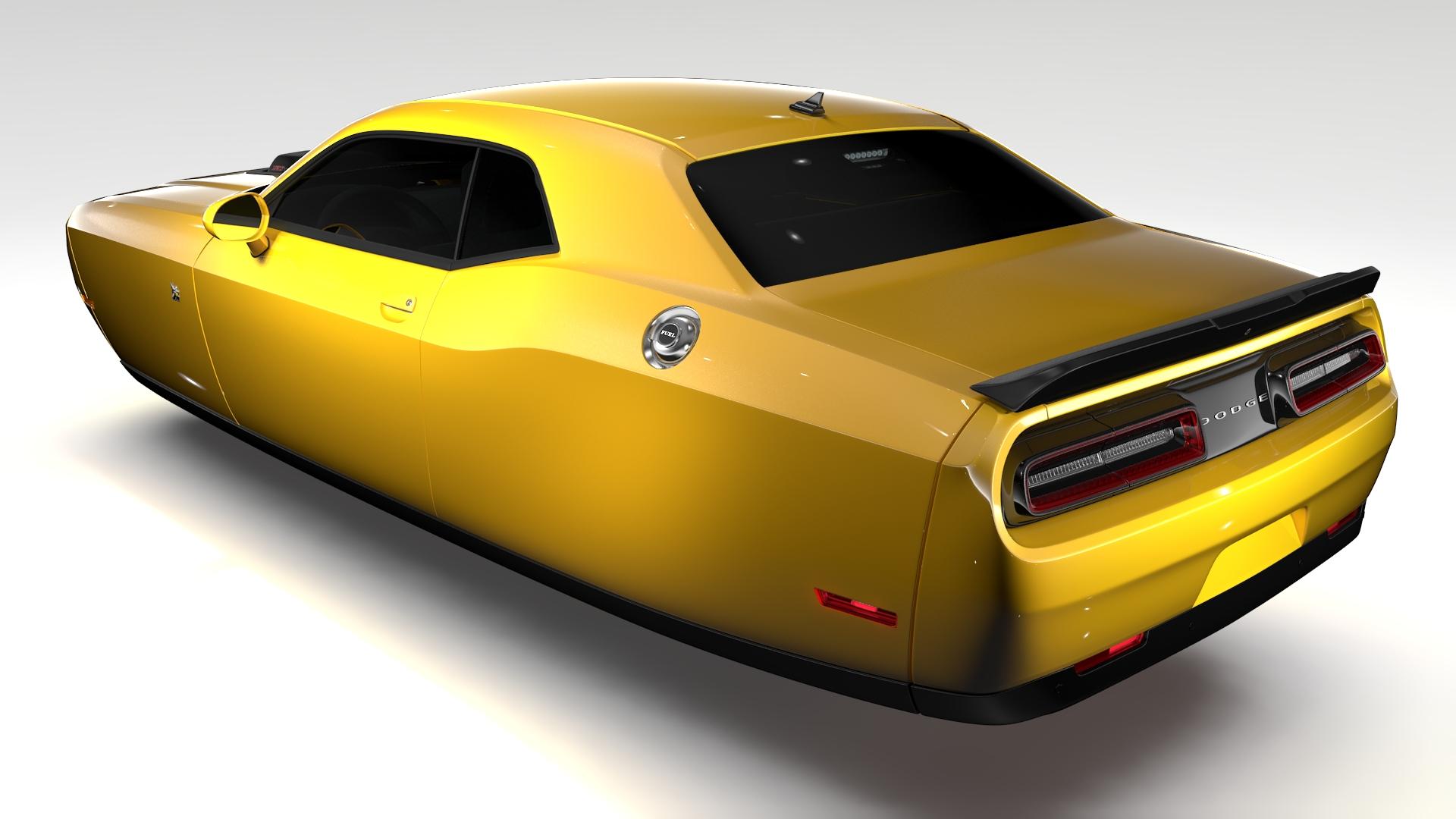 Dodge Challenger 392 shaker (lc) 2016 yn hedfan model 3d 3ds max fbx c4d ar gyfer yr hrc xsi obj 220598