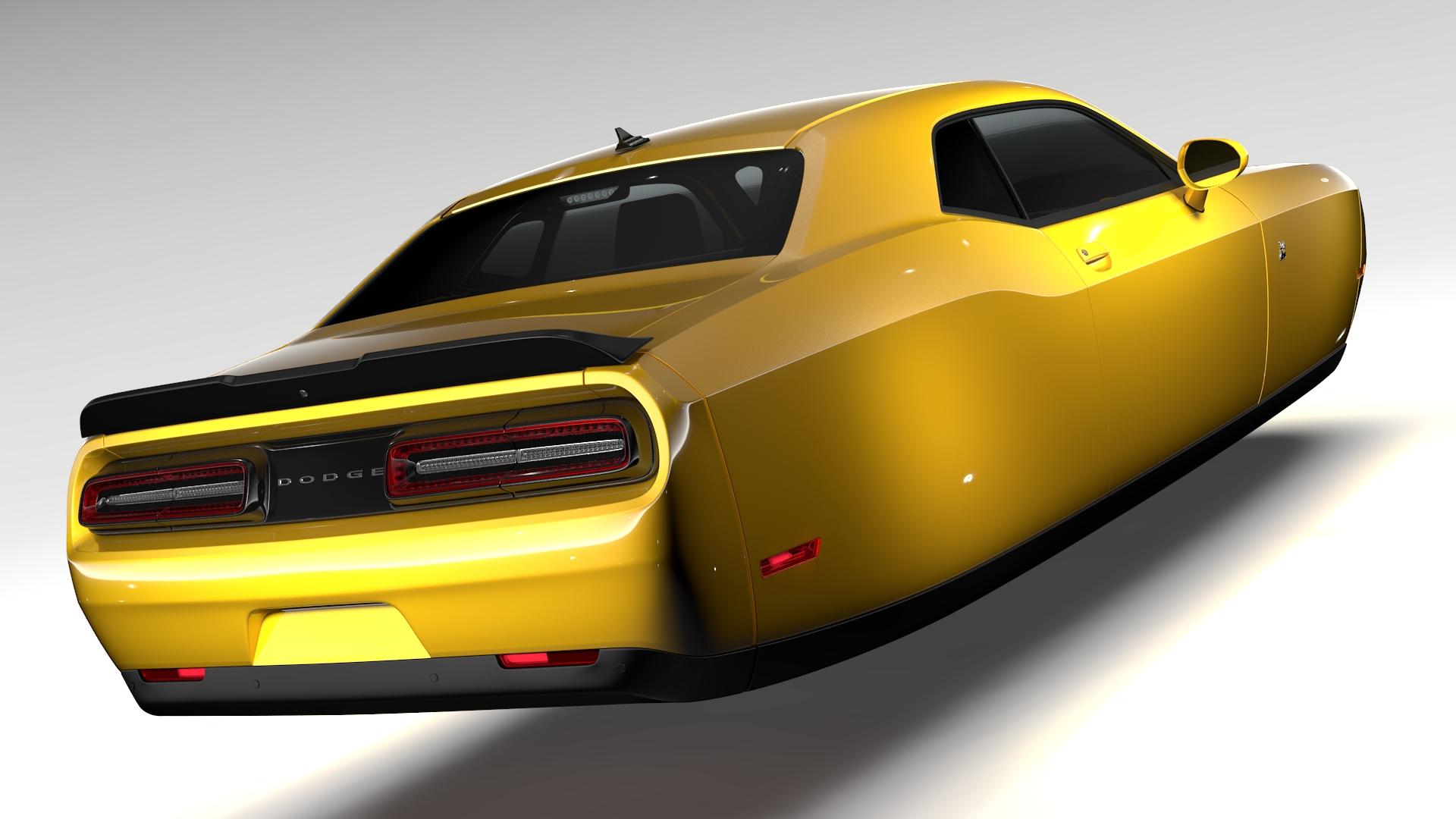 Dodge Challenger 392 shaker (lc) 2016 yn hedfan model 3d 3ds max fbx c4d ar gyfer yr hrc xsi obj 220602