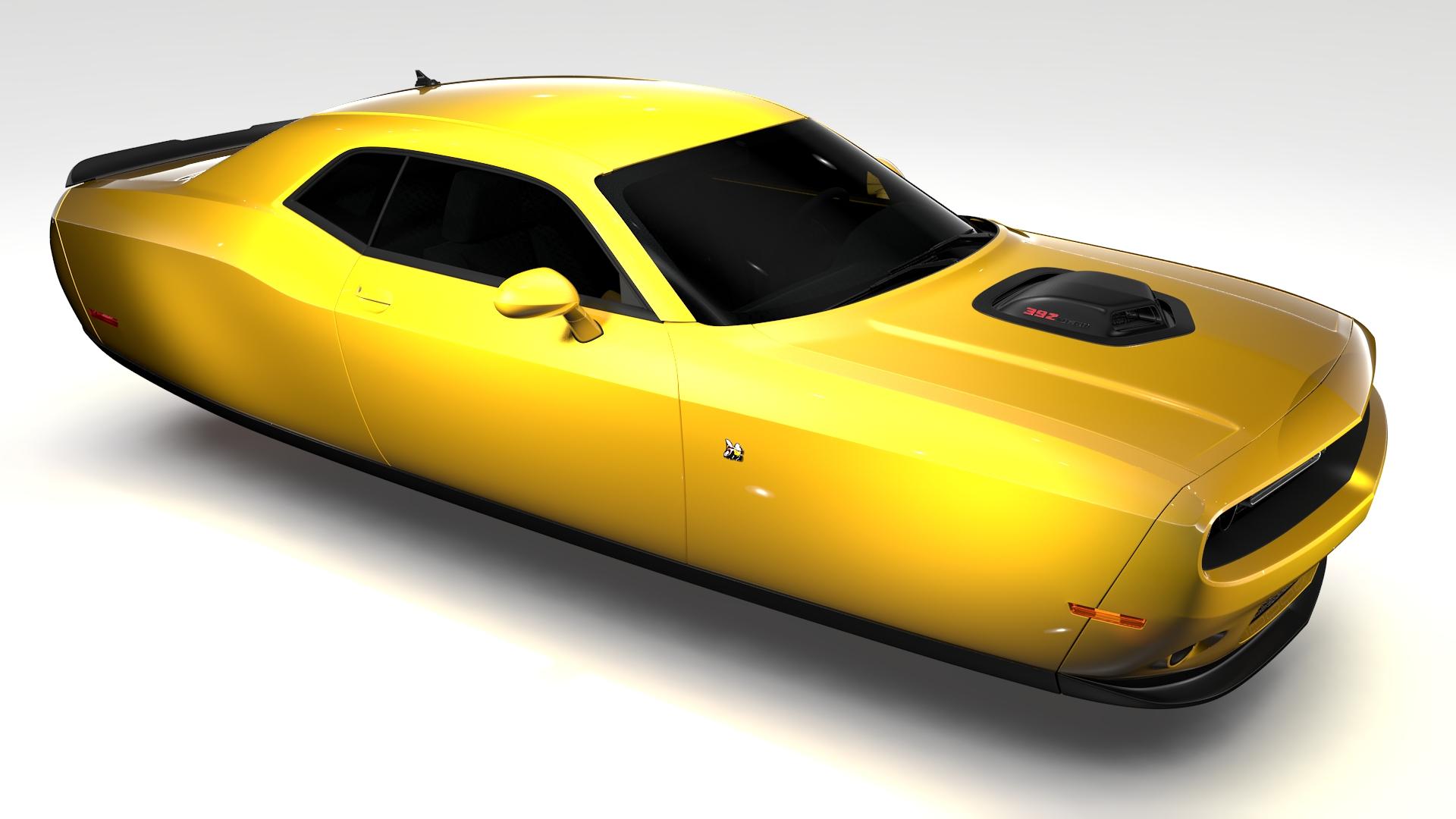 Dodge Challenger 392 shaker (lc) 2016 yn hedfan model 3d 3ds max fbx c4d ar gyfer yr hrc xsi obj 220603
