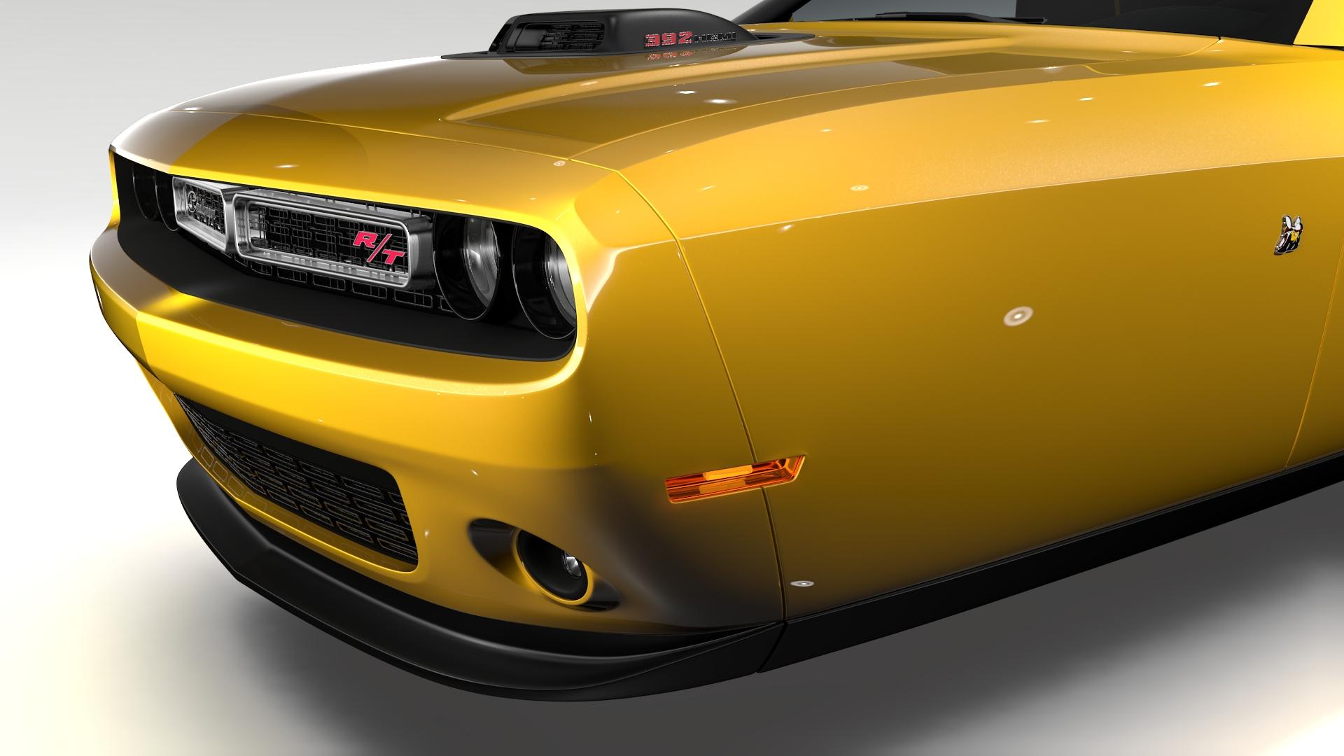Dodge Challenger 392 shaker (lc) 2016 yn hedfan model 3d 3ds max fbx c4d ar gyfer yr hrc xsi obj 220606