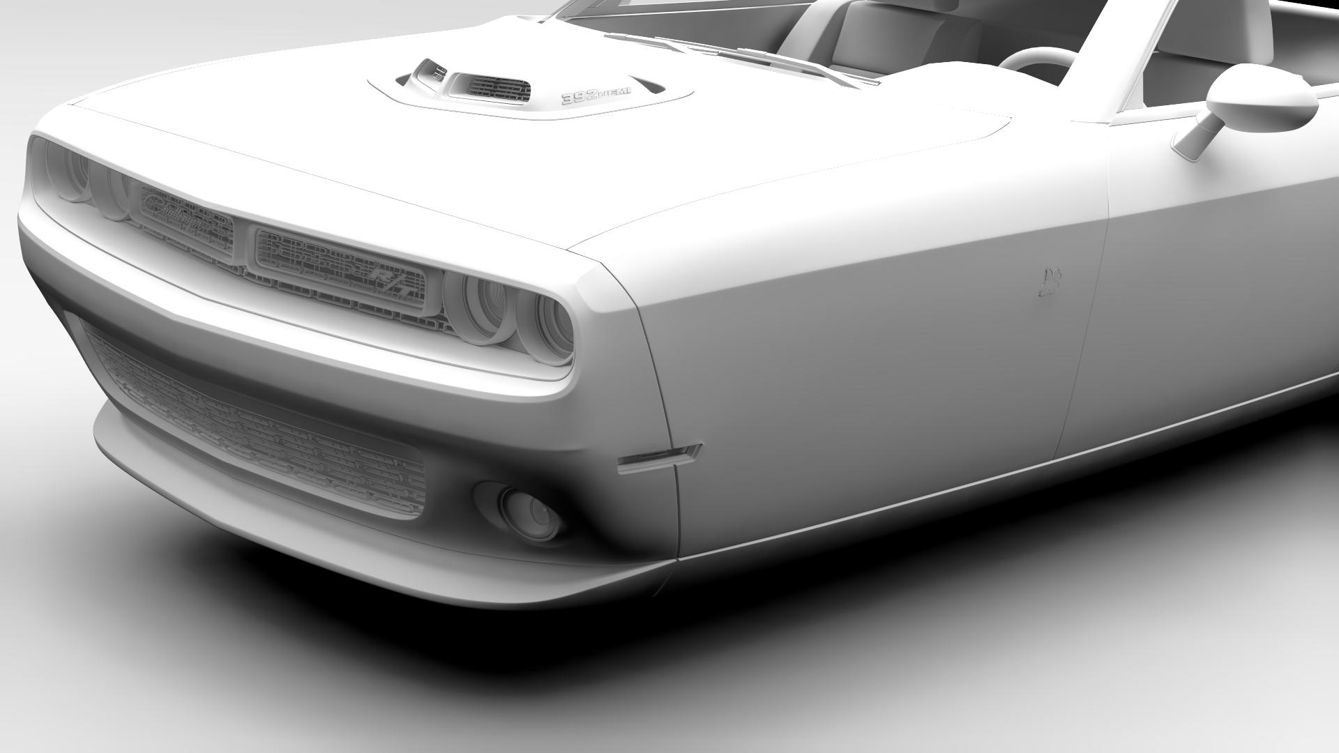 Dodge Challenger 392 shaker (lc) 2016 yn hedfan model 3d 3ds max fbx c4d ar gyfer yr hrc xsi obj 220612