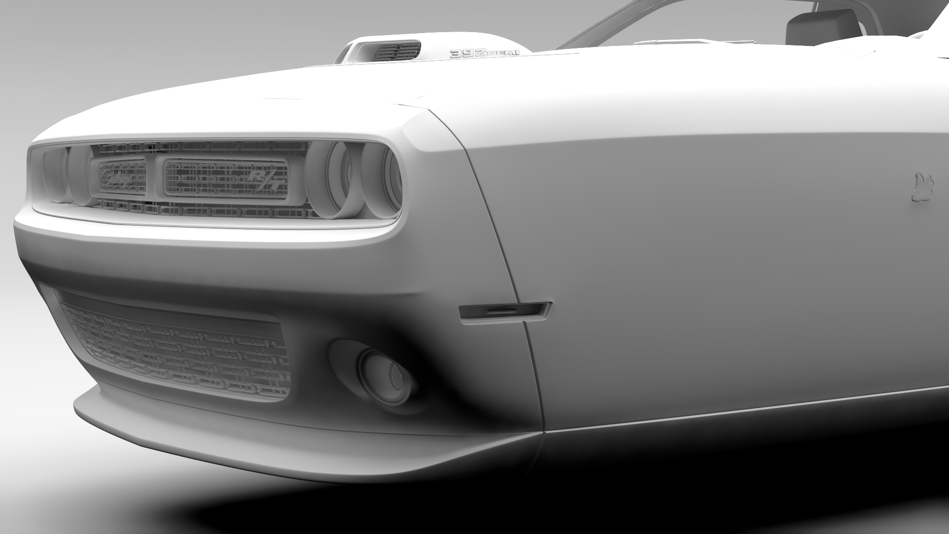 Dodge Challenger 392 shaker (lc) 2016 yn hedfan model 3d 3ds max fbx c4d ar gyfer yr hrc xsi obj 220613