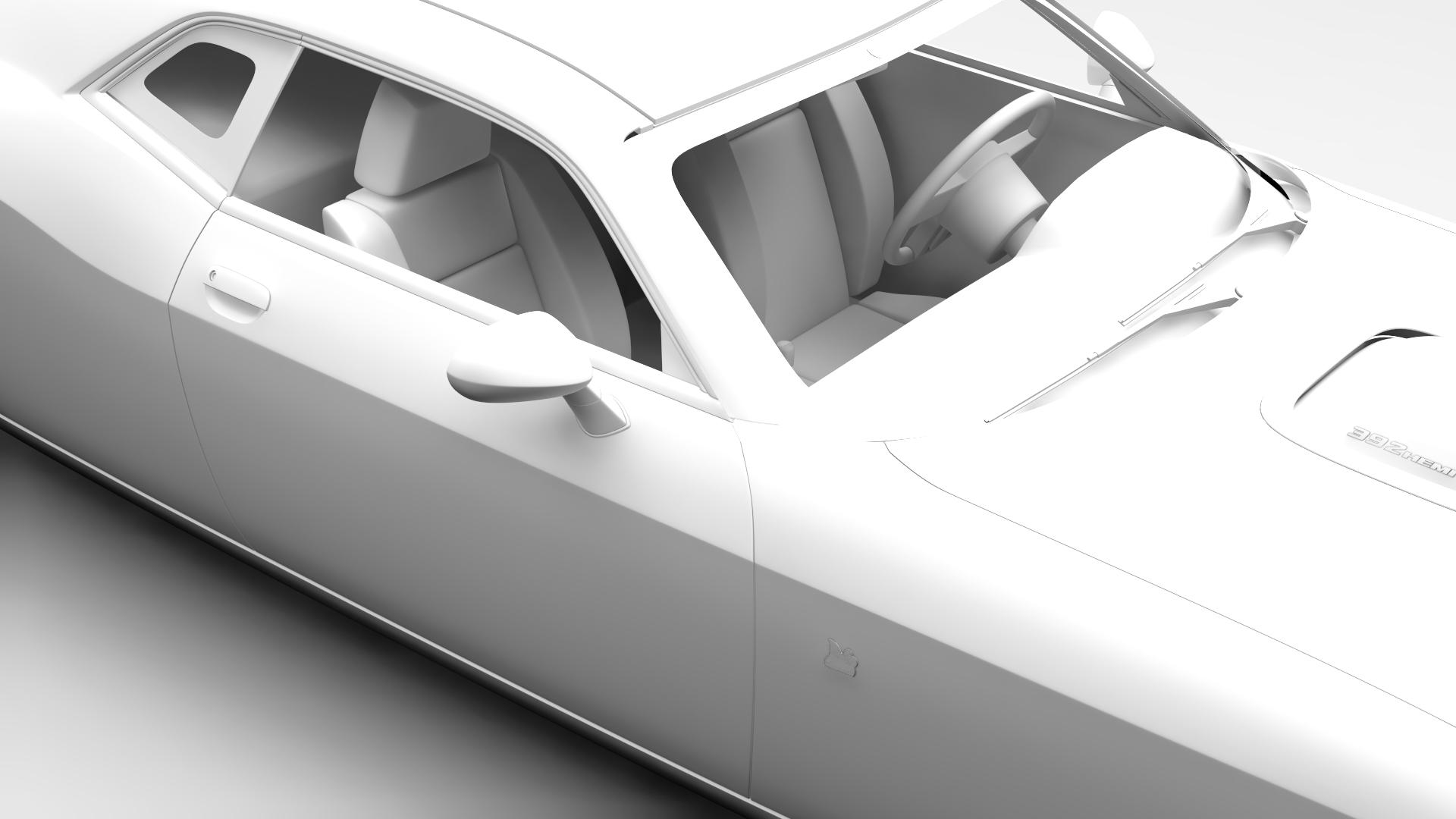 Dodge Challenger 392 shaker (lc) 2016 yn hedfan model 3d 3ds max fbx c4d ar gyfer yr hrc xsi obj 220614