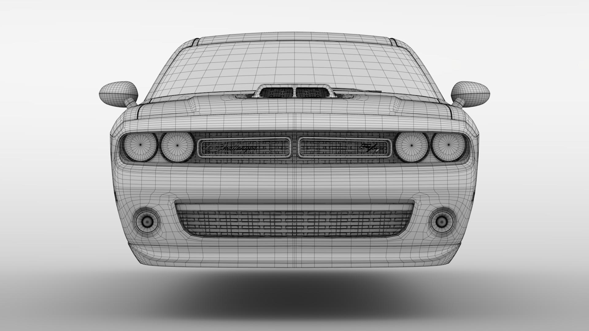 Dodge Challenger 392 shaker (lc) 2016 yn hedfan model 3d 3ds max fbx c4d ar gyfer yr hrc xsi obj 220616