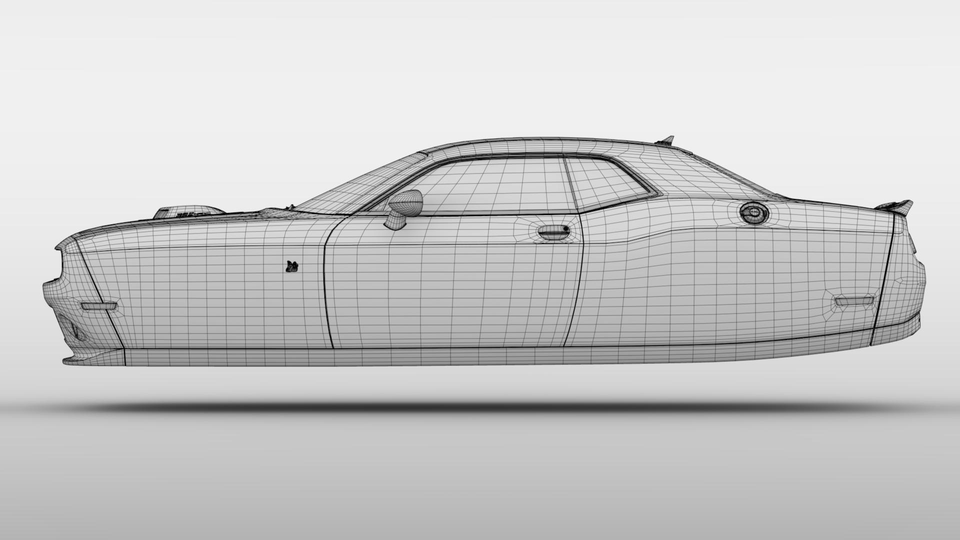 Dodge Challenger 392 shaker (lc) 2016 yn hedfan model 3d 3ds max fbx c4d ar gyfer yr hrc xsi obj 220617