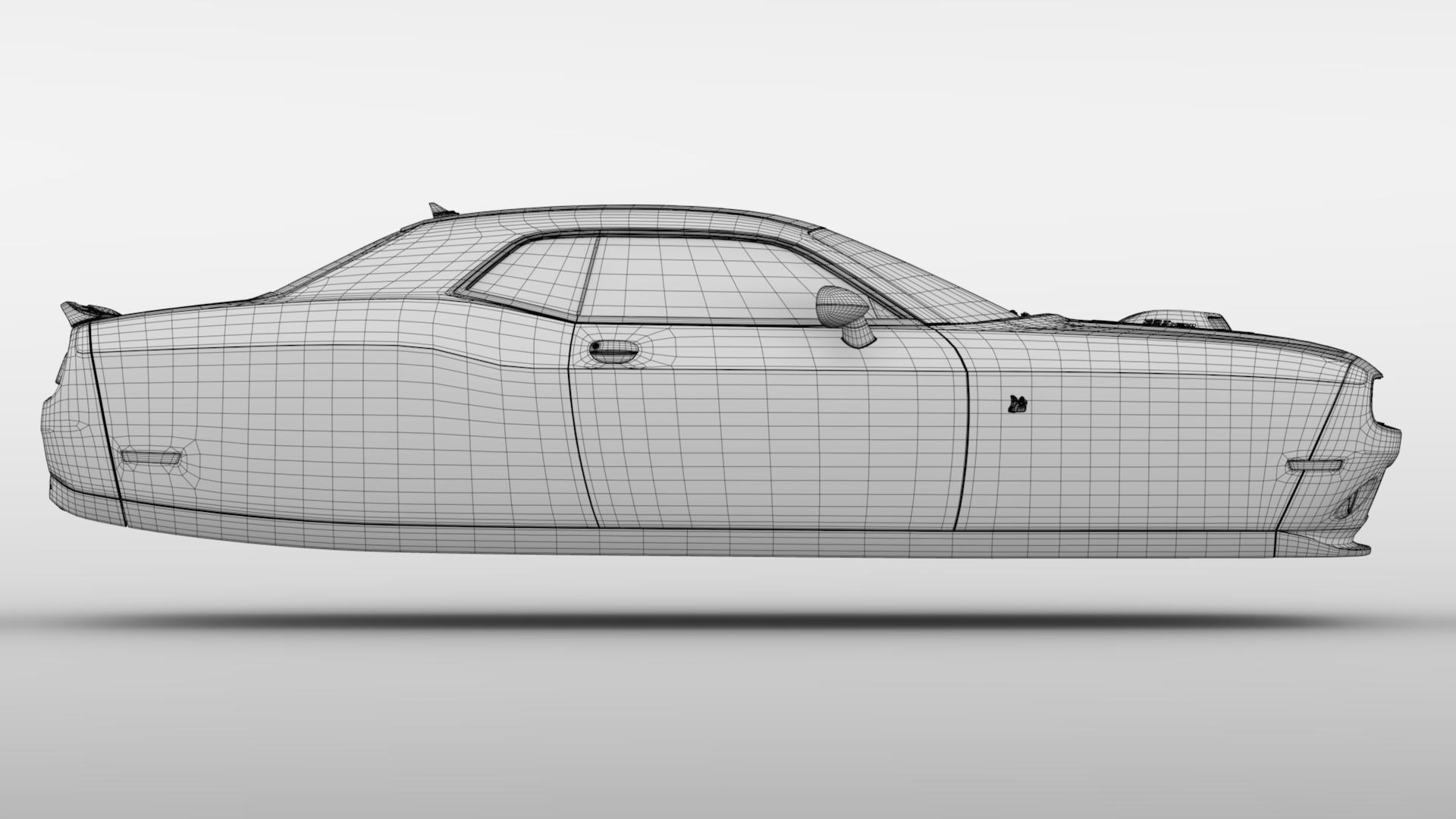 Dodge Challenger 392 shaker (lc) 2016 yn hedfan model 3d 3ds max fbx c4d ar gyfer yr hrc xsi obj 220620