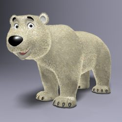 Cartoon Polar bear Rigged 3d model 0