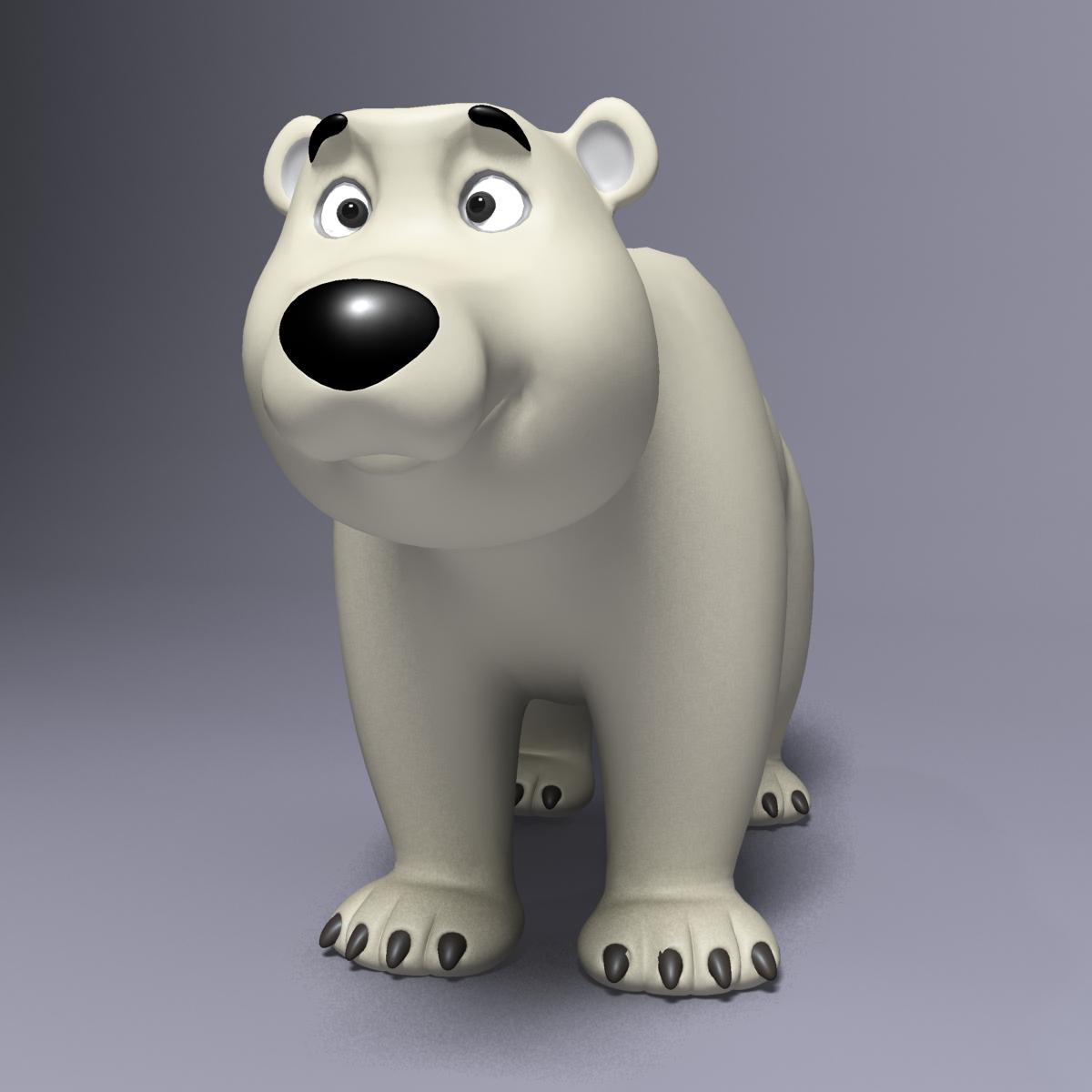 cartoon polar bear rigged 3d model max  fbx 3dm  220648