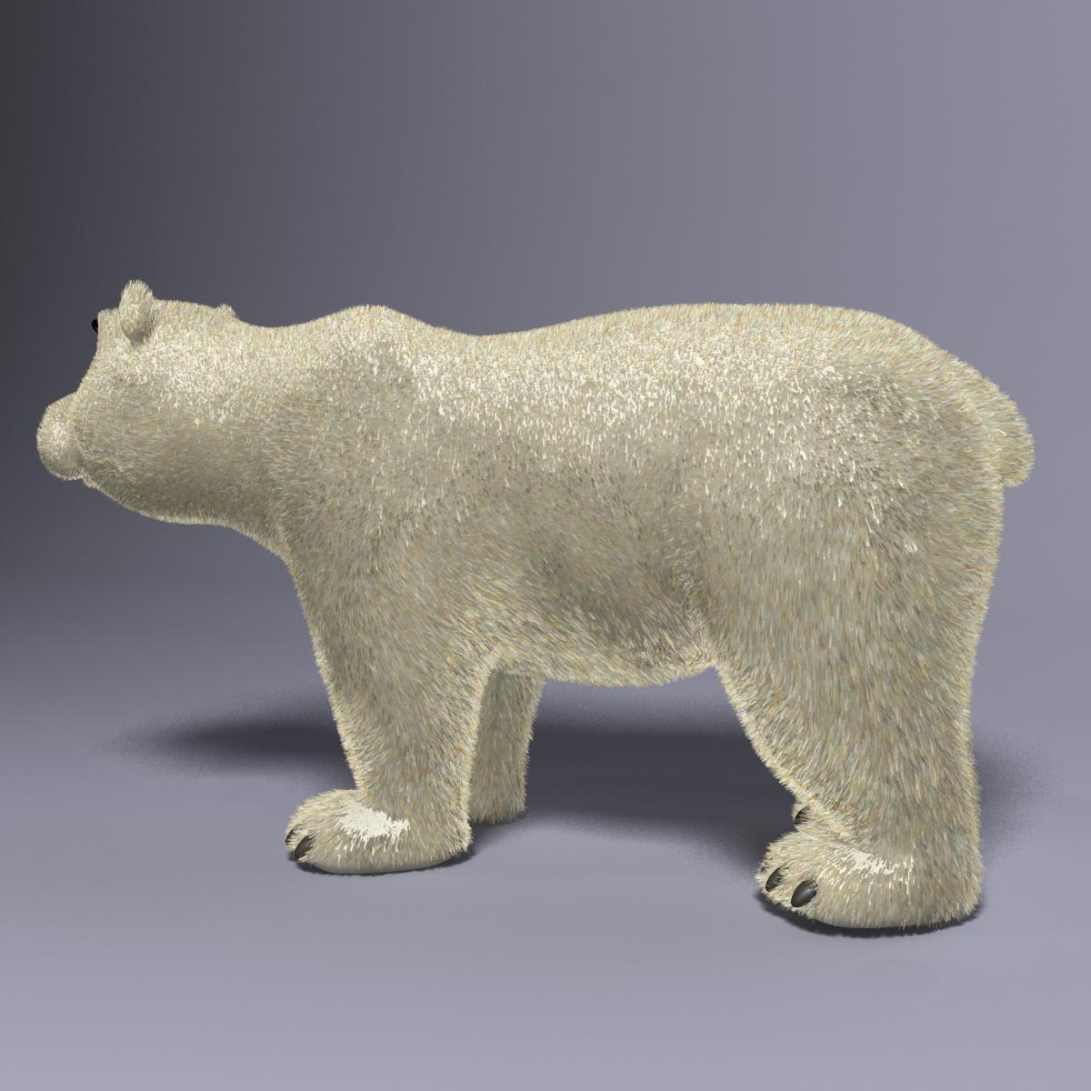 cartoon polar bear rigged 3d model max  fbx 3dm  220649