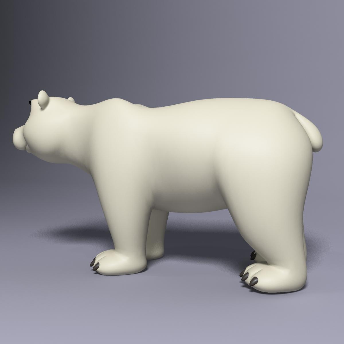 cartoon polar bear rigged 3d model max  fbx 3dm  220650