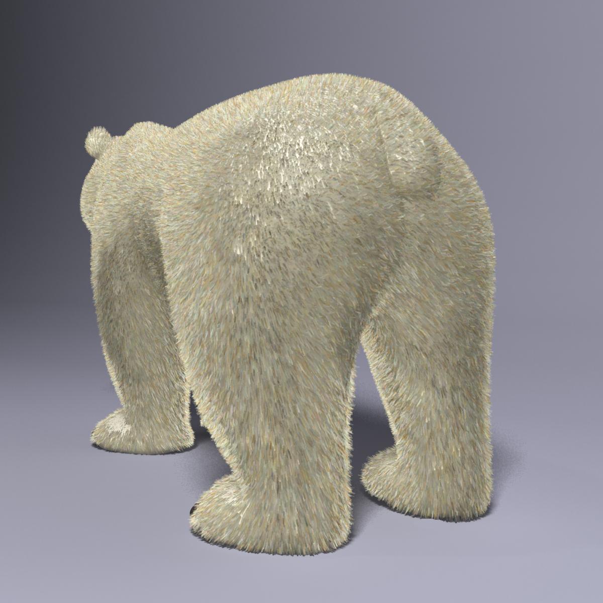 cartoon polar bear rigged 3d model max  fbx 3dm  220651
