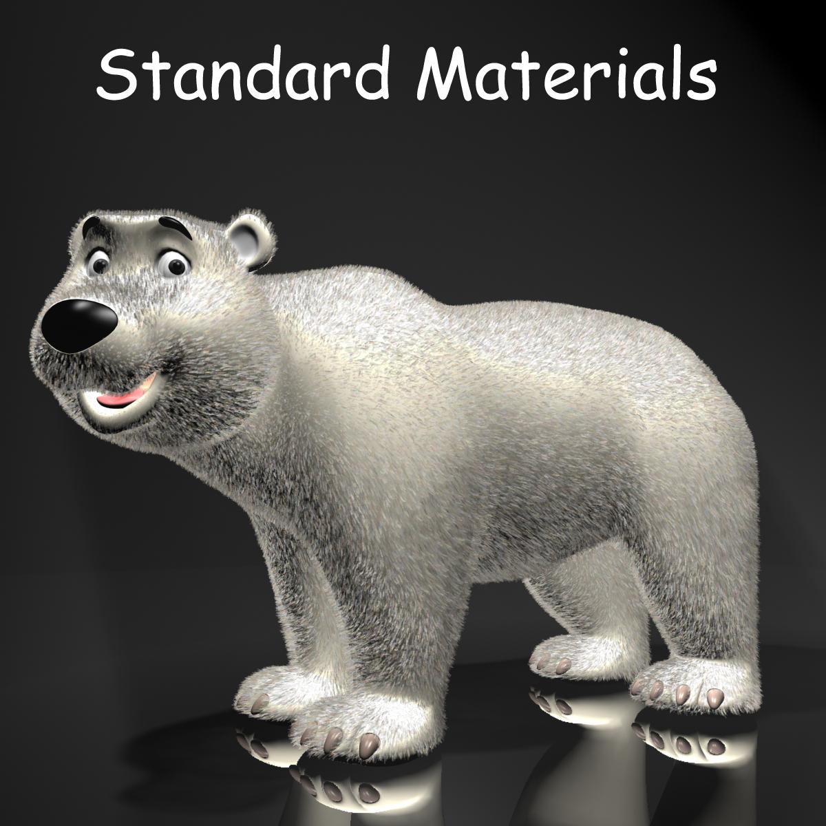 cartoon polar bear rigged 3d model max  fbx 3dm  220653