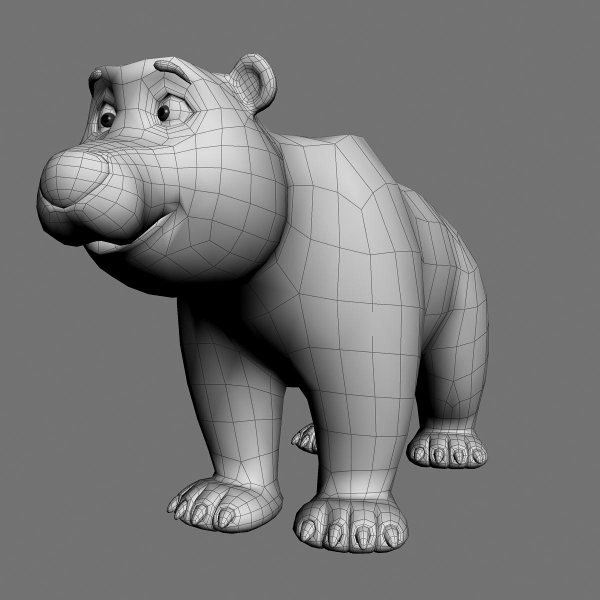 cartoon polar bear rigged 3d model max  fbx 3dm  220655