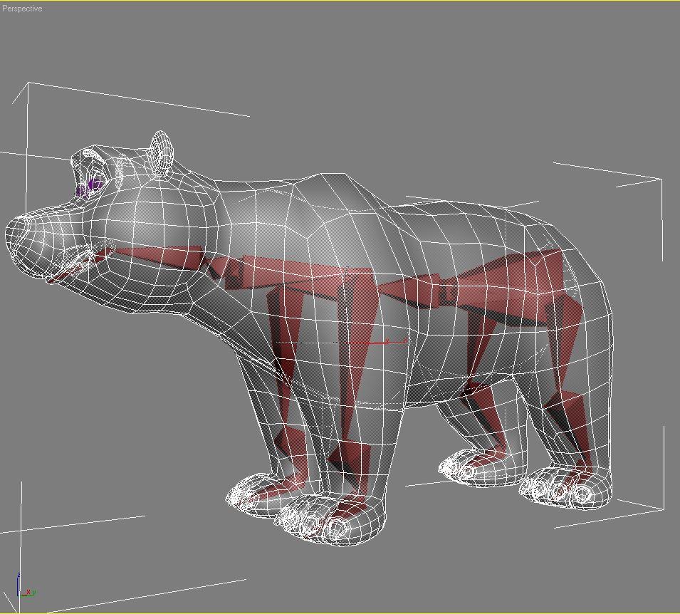 cartoon polar bear rigged 3d model max  fbx 3dm  220657