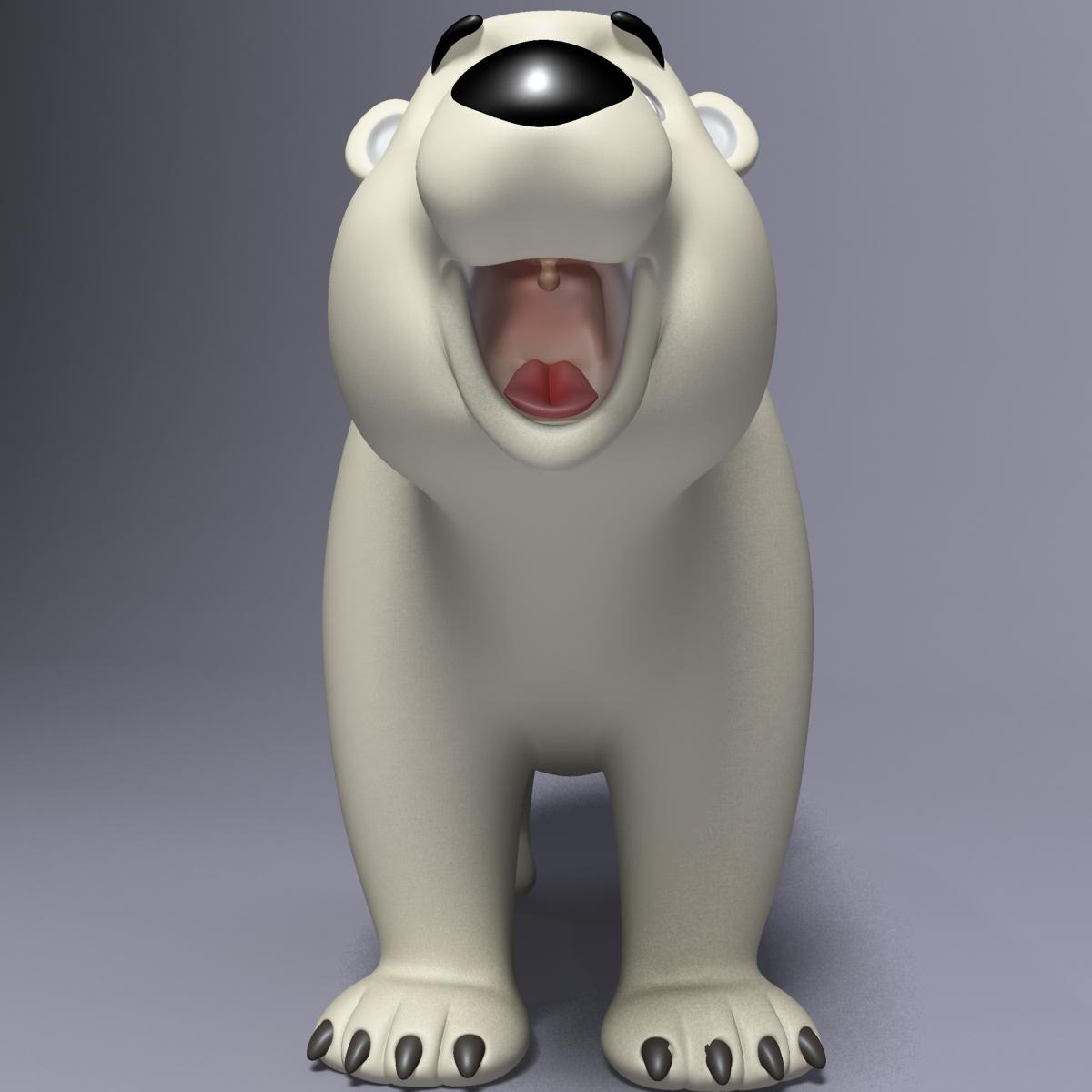 cartoon polar bear rigged 3d model max  fbx 3dm  220658