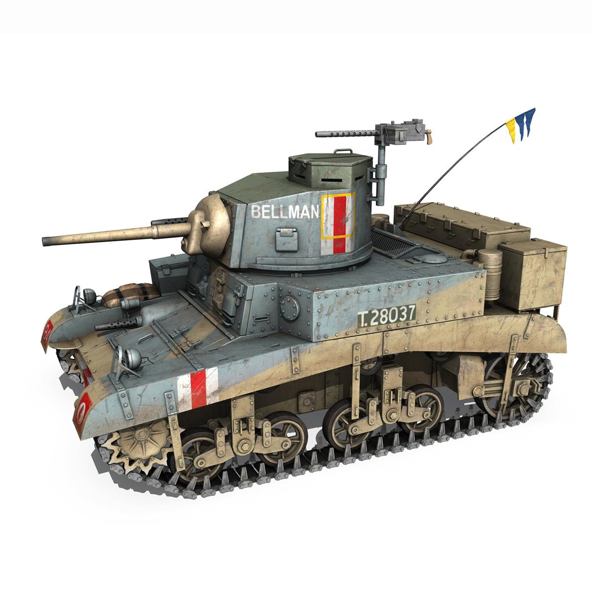 m3 light tank honey – bellman 3d model 3ds fbx c4d lwo obj 220713