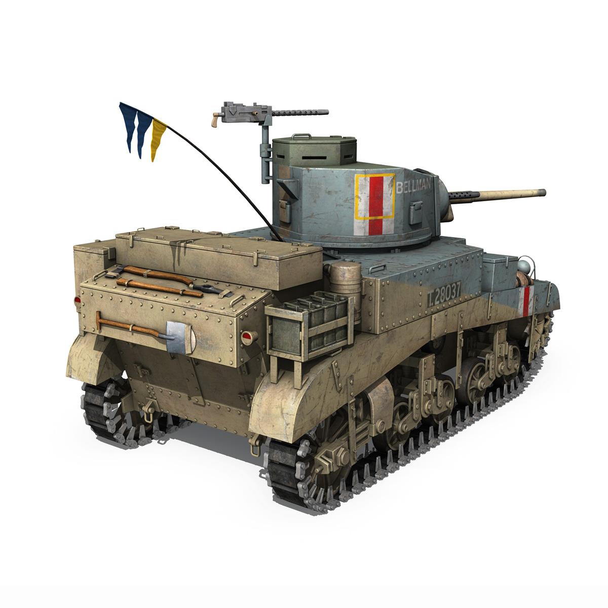 m3 light tank honey – bellman 3d model 3ds fbx c4d lwo obj 220715