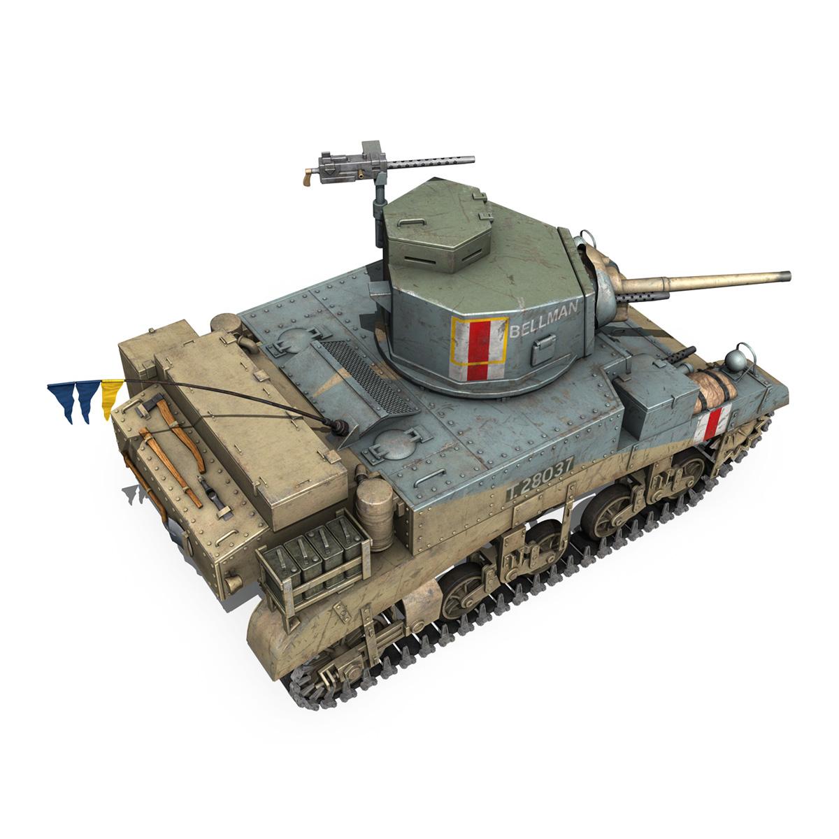 m3 light tank honey – bellman 3d model 3ds fbx c4d lwo obj 220716