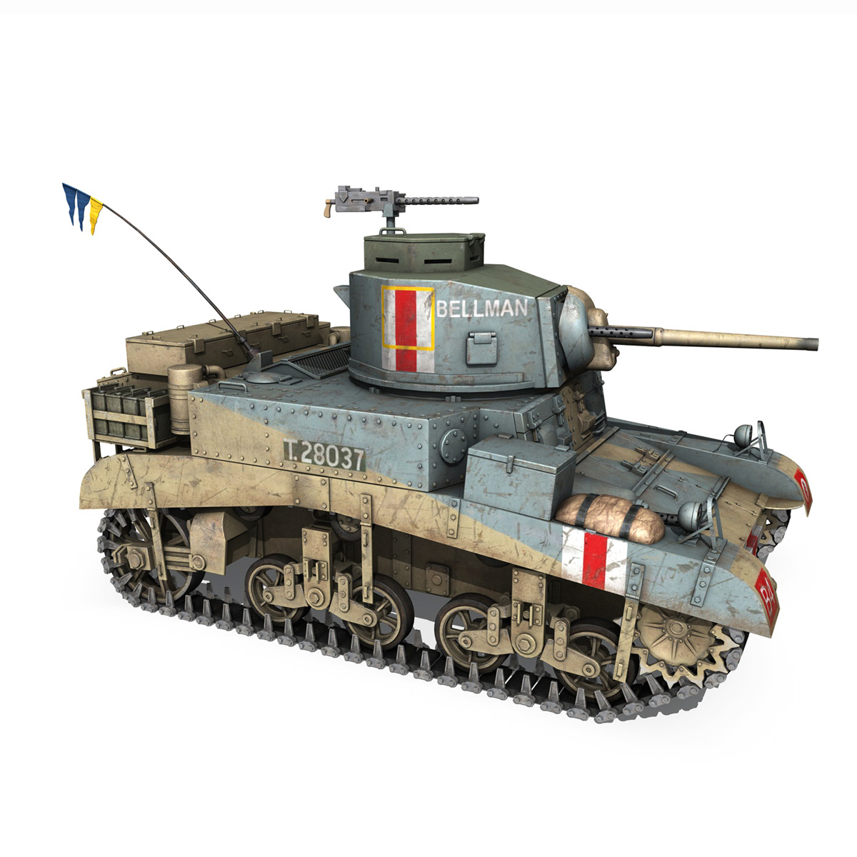 m3 light tank honey – bellman 3d model 3ds fbx c4d lwo obj 220717