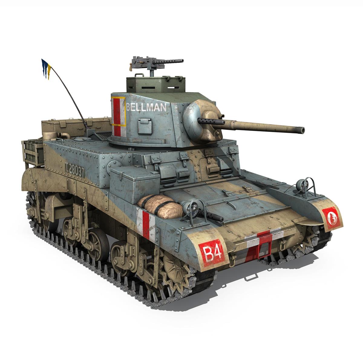 m3 light tank honey – bellman 3d model 3ds fbx c4d lwo obj 220718