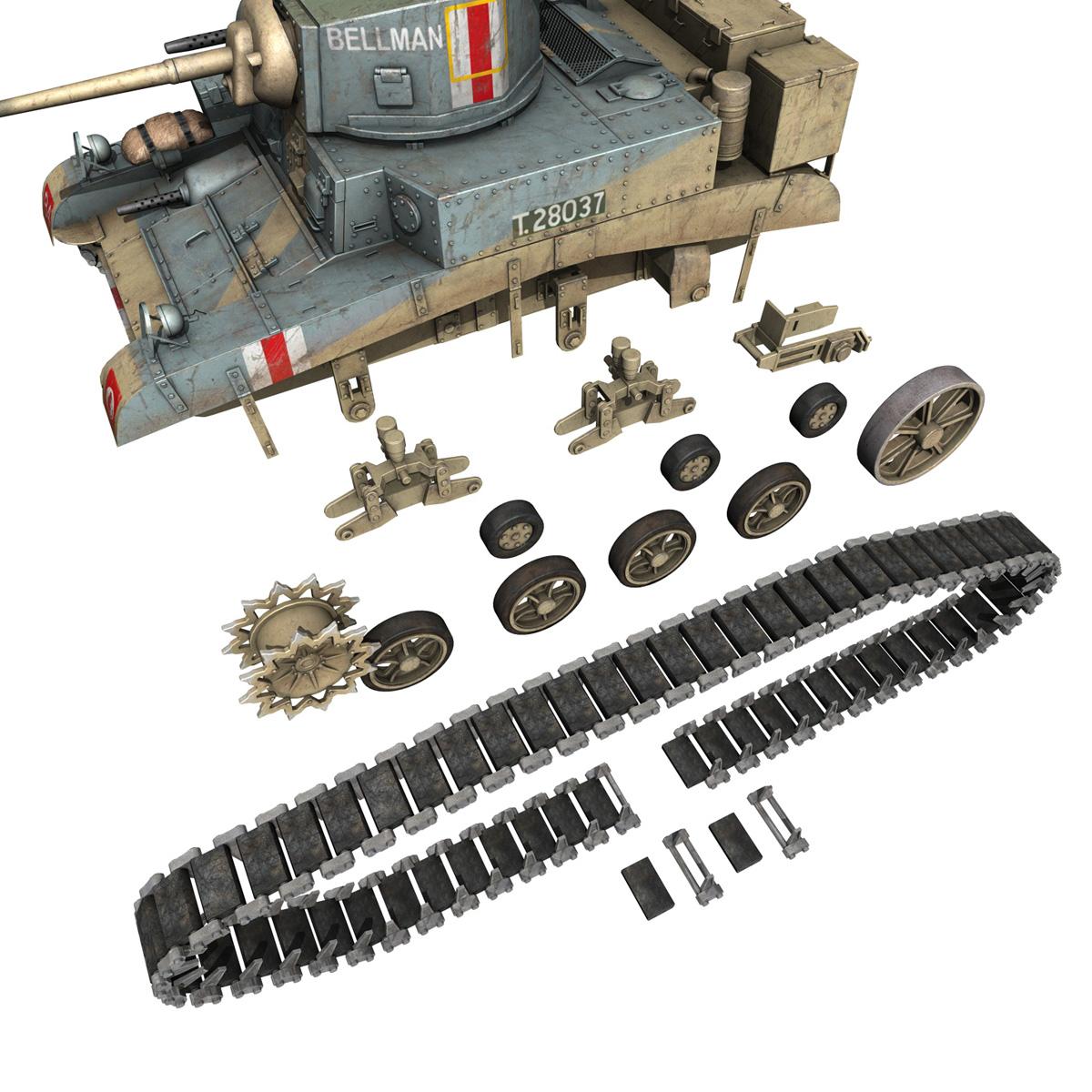 m3 light tank honey – bellman 3d model 3ds fbx c4d lwo obj 220719
