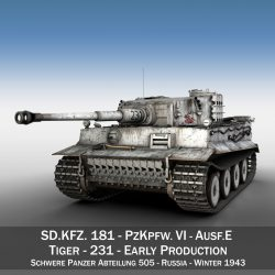 Panzer VI - Tiger - 231 - Early Production ( 314.89KB jpg by Panaristi )