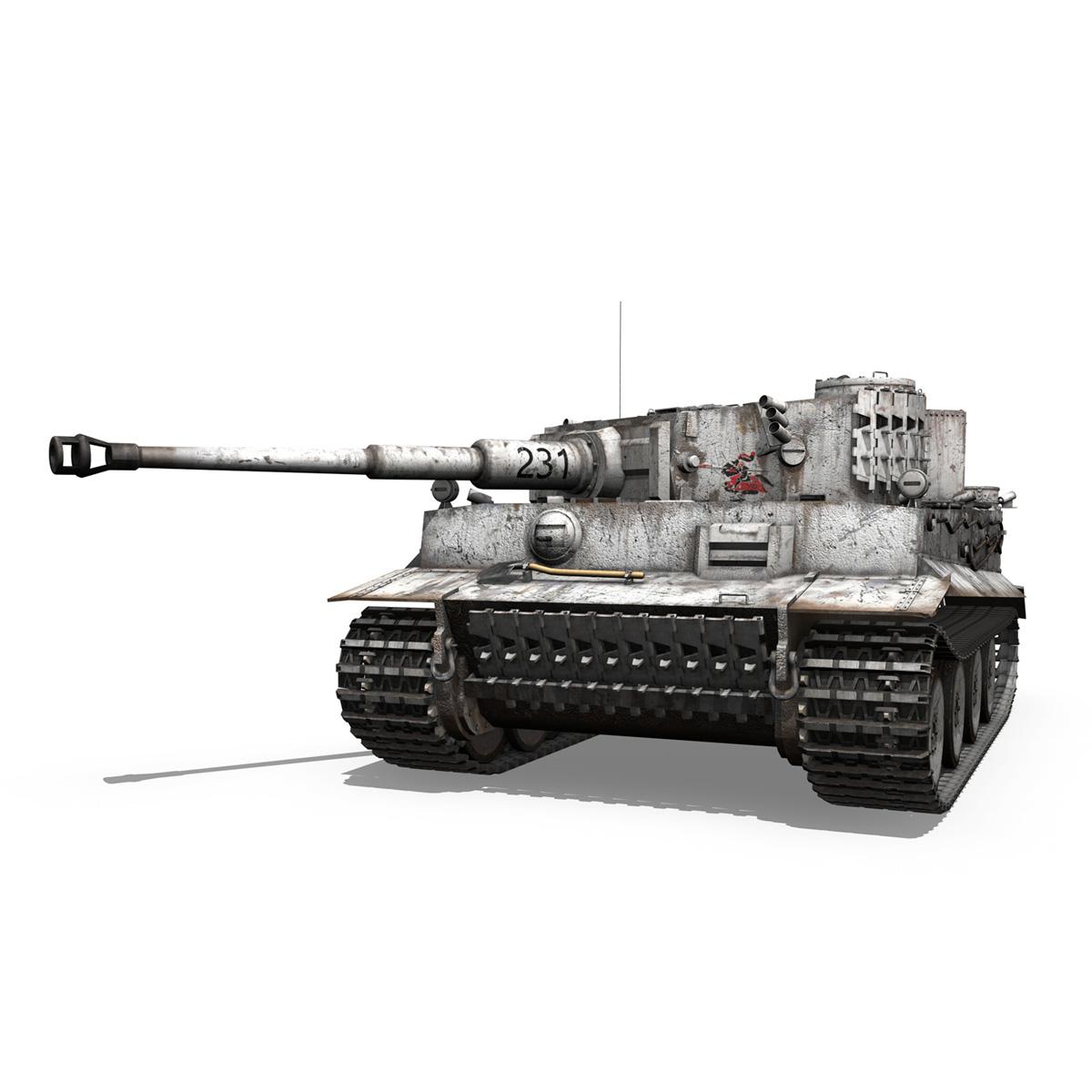 panzer vi – tiger – 231 – early production 3d model 3ds fbx c4d lwo obj 220724