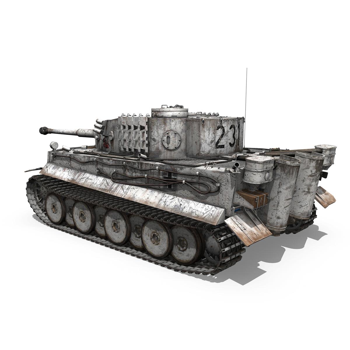 panzer vi – tiger – 231 – early production 3d model 3ds fbx c4d lwo obj 220725