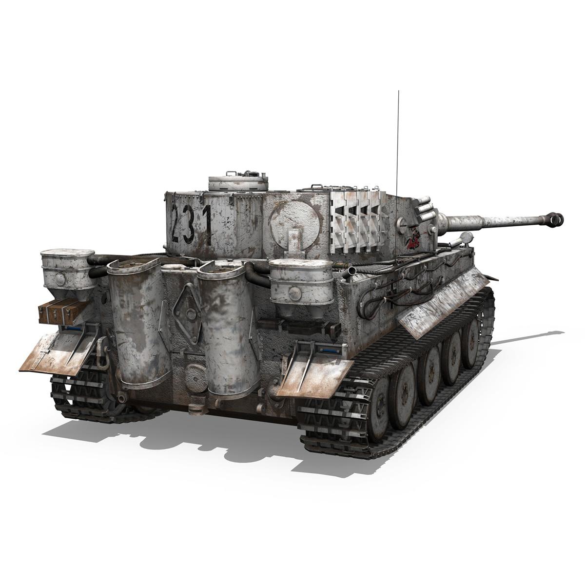 panzer vi – tiger – 231 – early production 3d model 3ds fbx c4d lwo obj 220726