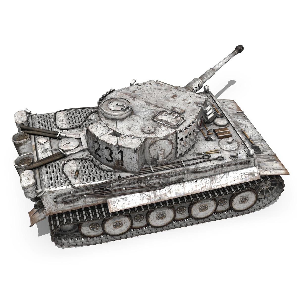 panzer vi – tiger – 231 – early production 3d model 3ds fbx c4d lwo obj 220727