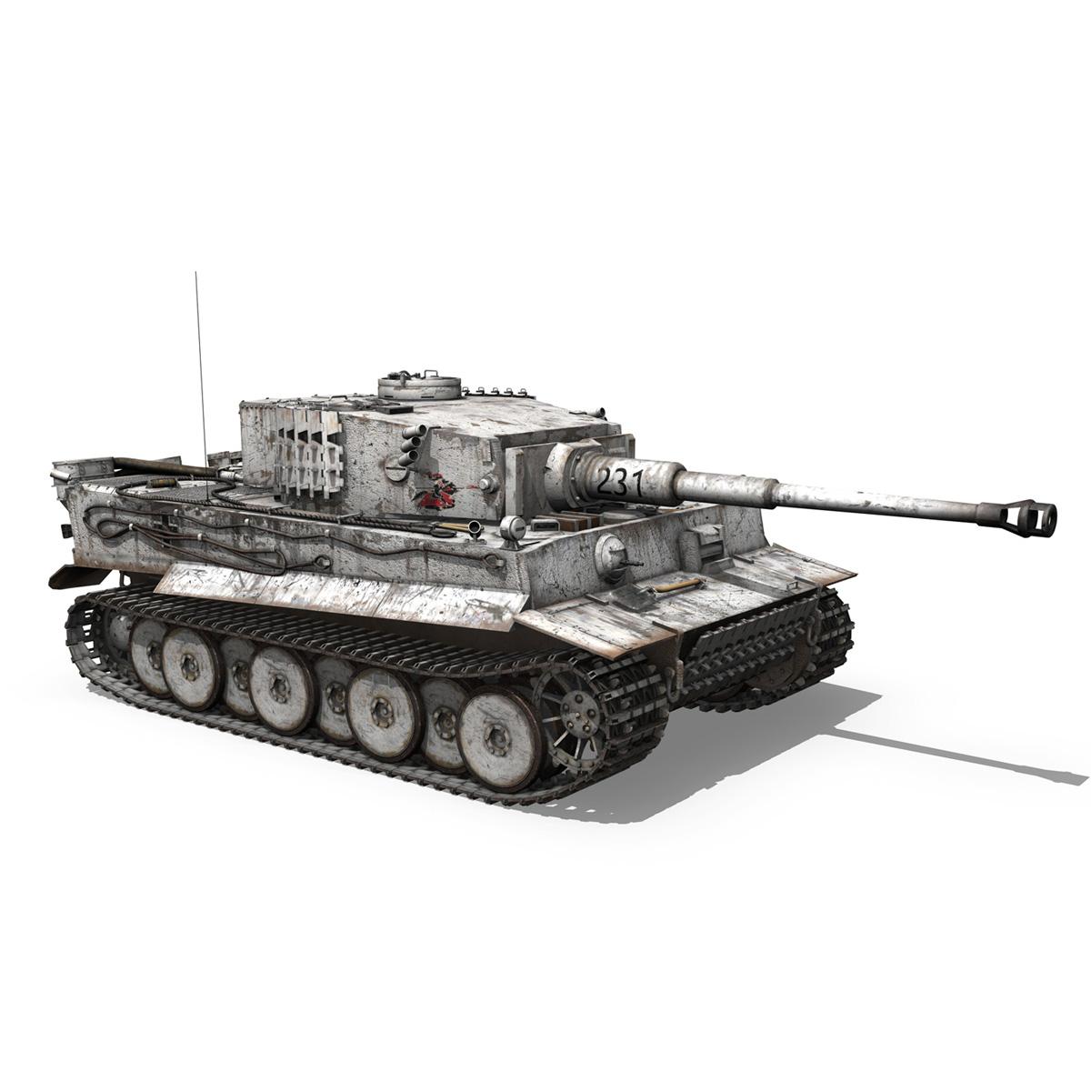 panzer vi – tiger – 231 – early production 3d model 3ds fbx c4d lwo obj 220728