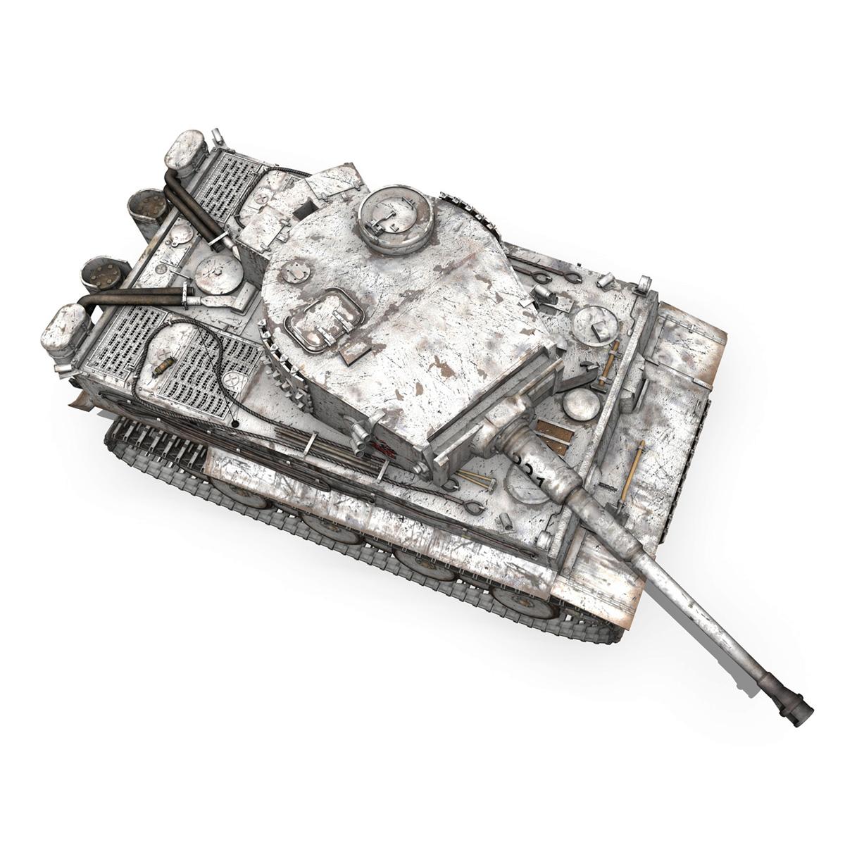 panzer vi – tiger – 231 – early production 3d model 3ds fbx c4d lwo obj 220729