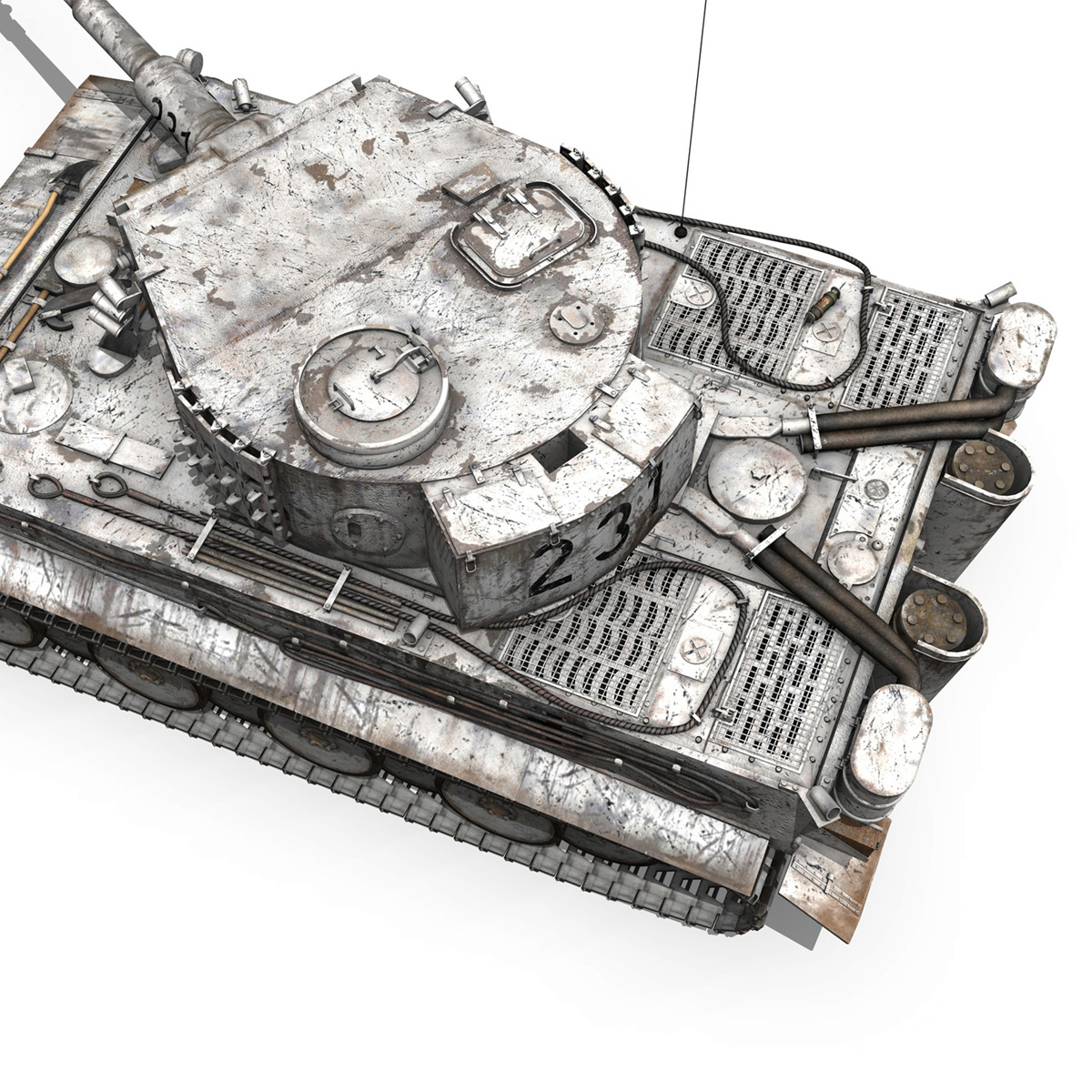 panzer vi – tiger – 231 – early production 3d model 3ds fbx c4d lwo obj 220730