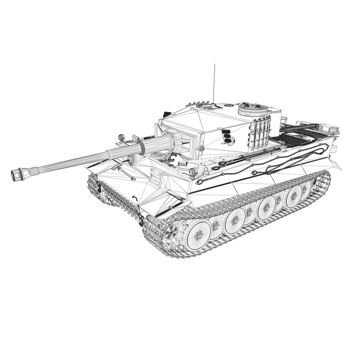 panzer vi – tiger – 231 – early production 3d model 3ds fbx c4d lwo obj 220732