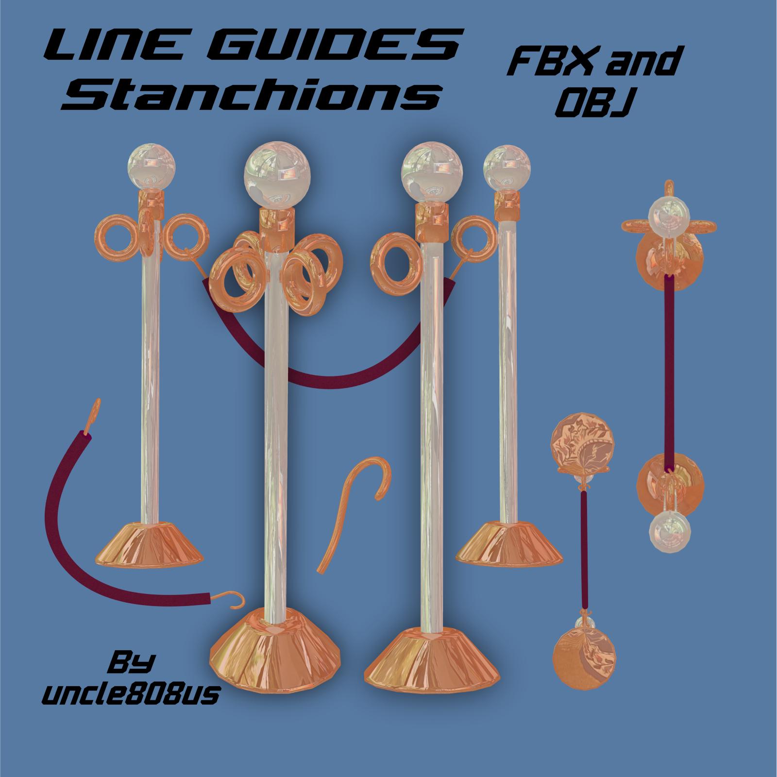 lineguides_stanchions fbx obj 3d model fbx 220784