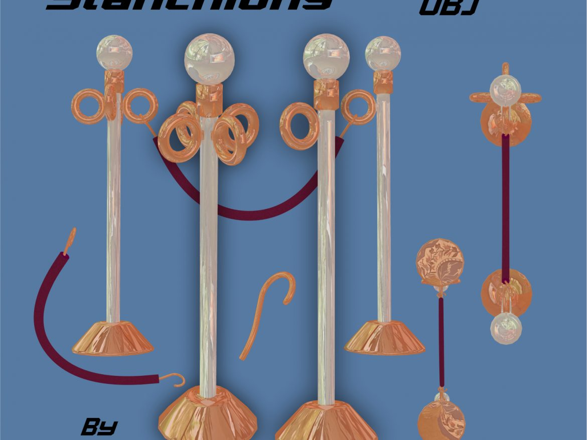LineGuides_Stanchions FBX OBJ ( 1059.95KB jpg by uncle808us )