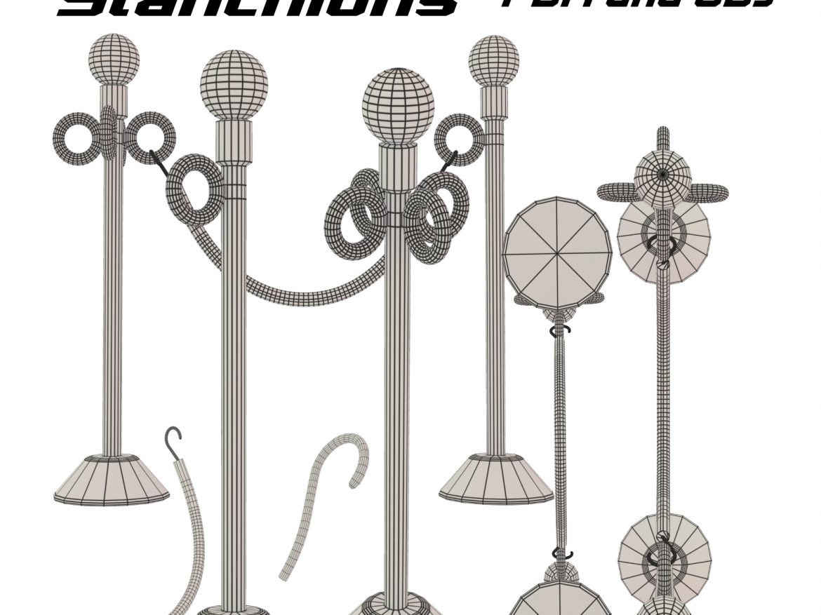 LineGuides_Stanchions FBX OBJ ( 902.43KB jpg by uncle808us )