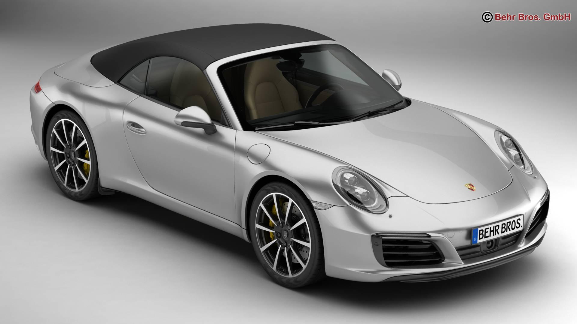 porsche 911 carrera cabriolet 2017 3d líkan 3ds max fbx c4d lwo ma mb obj 220789