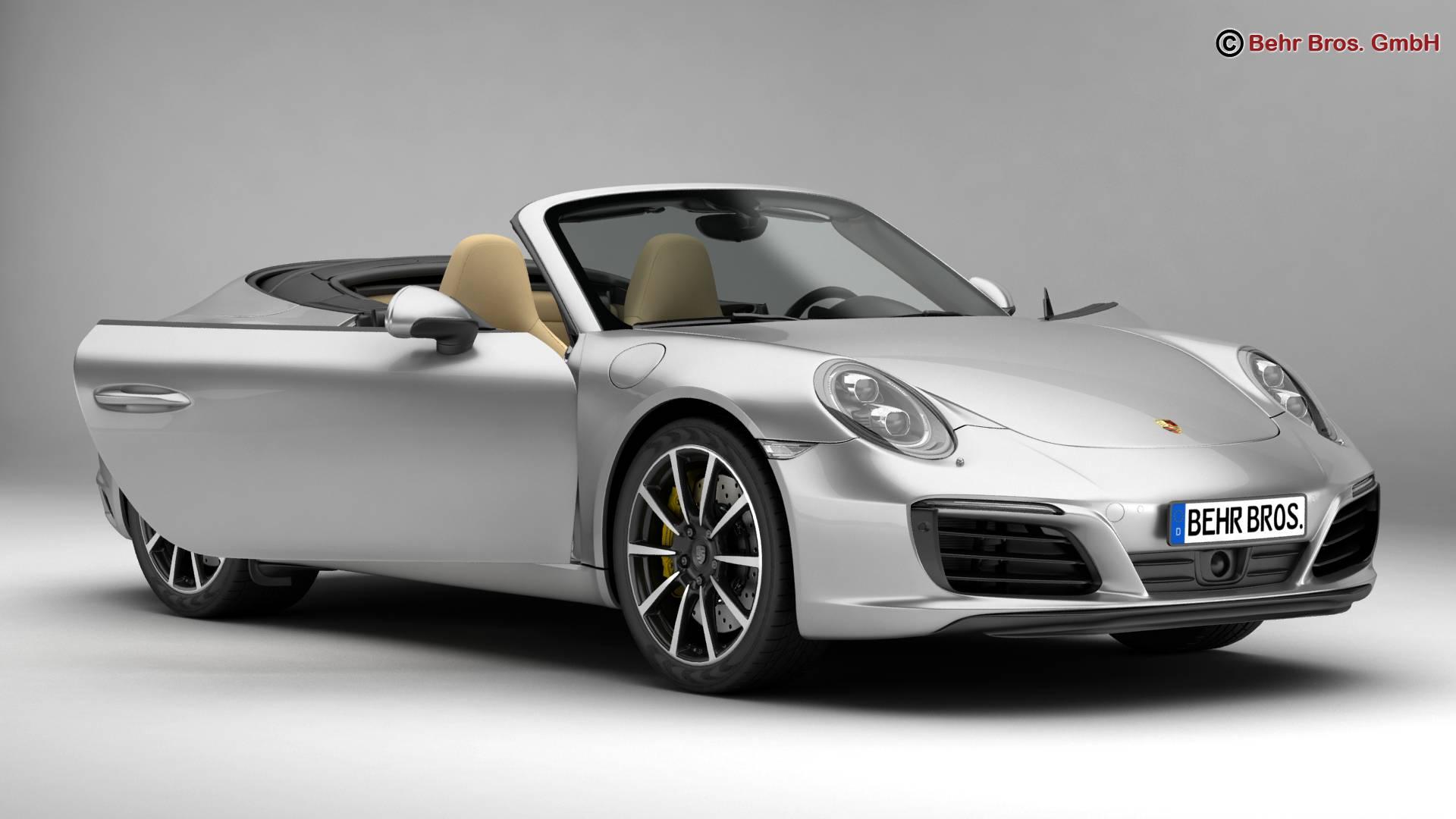 porsche 911 carrera cabriolet 2017 3d líkan 3ds max fbx c4d lwo ma mb obj 220791