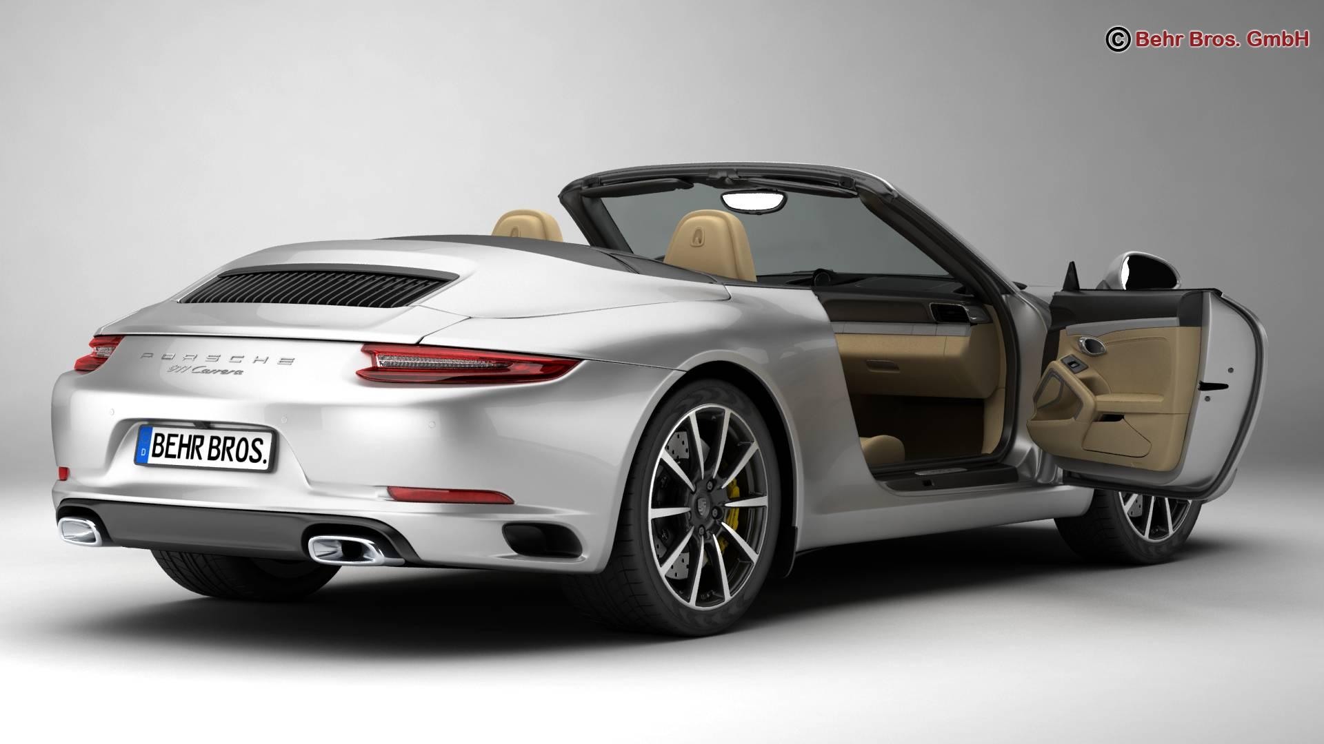 porsche 911 carrera cabriolet 2017 3d líkan 3ds max fbx c4d lwo ma mb obj 220793