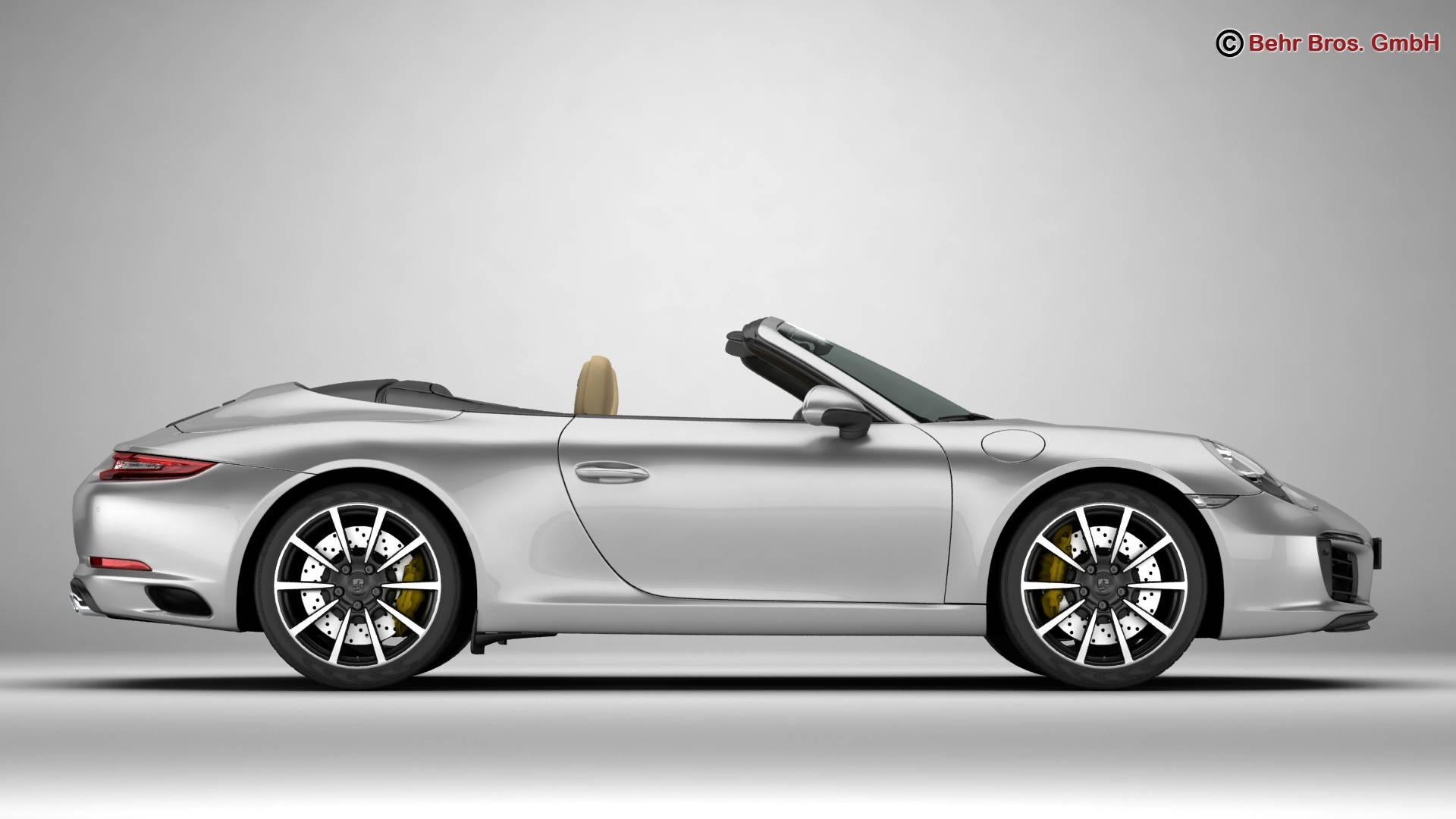 porsche 911 carrera cabriolet 2017 3d model 3ds max fbx c4d lwo ma mb obj 220794