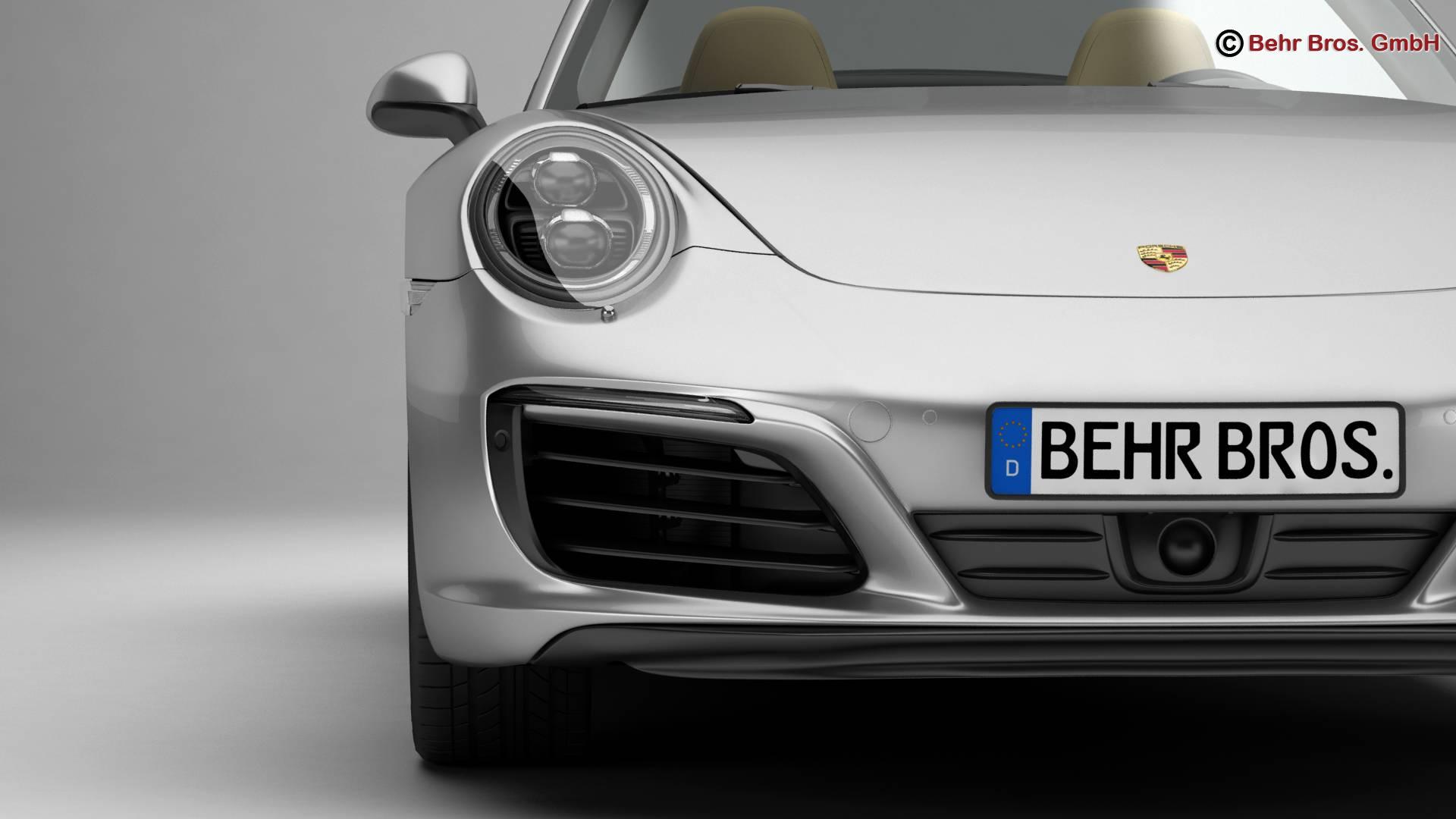 porsche 911 carrera cabriolet 2017 3d model 3ds max fbx c4d lwo ma mb obj 220796