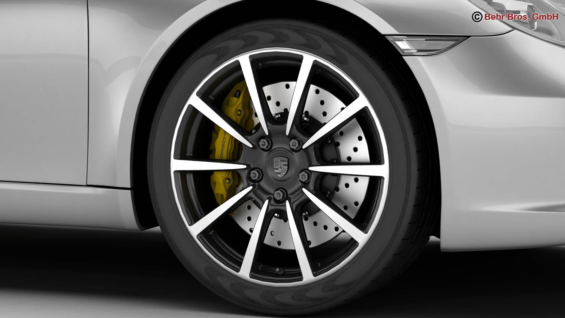 porsche 911 carrera cabriolet 2017 3d model 3ds max fbx c4d lwo ma mb obj 220797