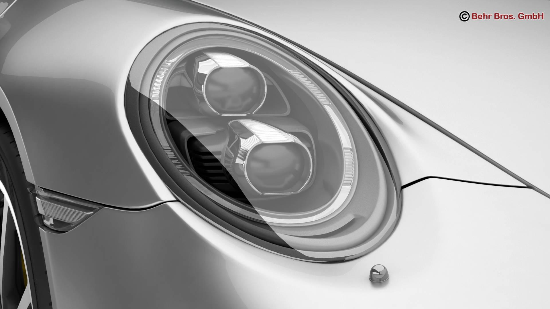 porsche 911 carrera cabriolet 2017 3d model 3ds max fbx c4d lwo ma mb obj 220798