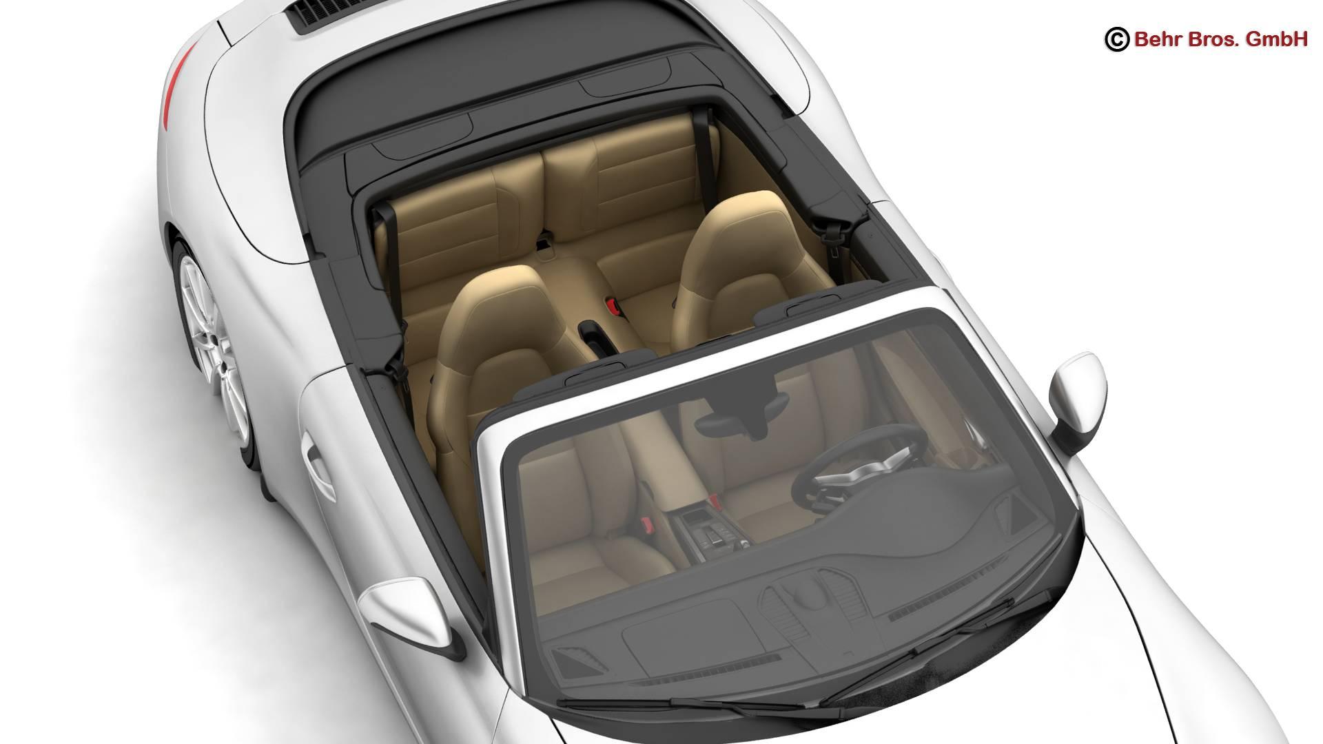 porsche 911 carrera cabriolet 2017 3d model 3ds max fbx c4d lwo ma mb obj 220800