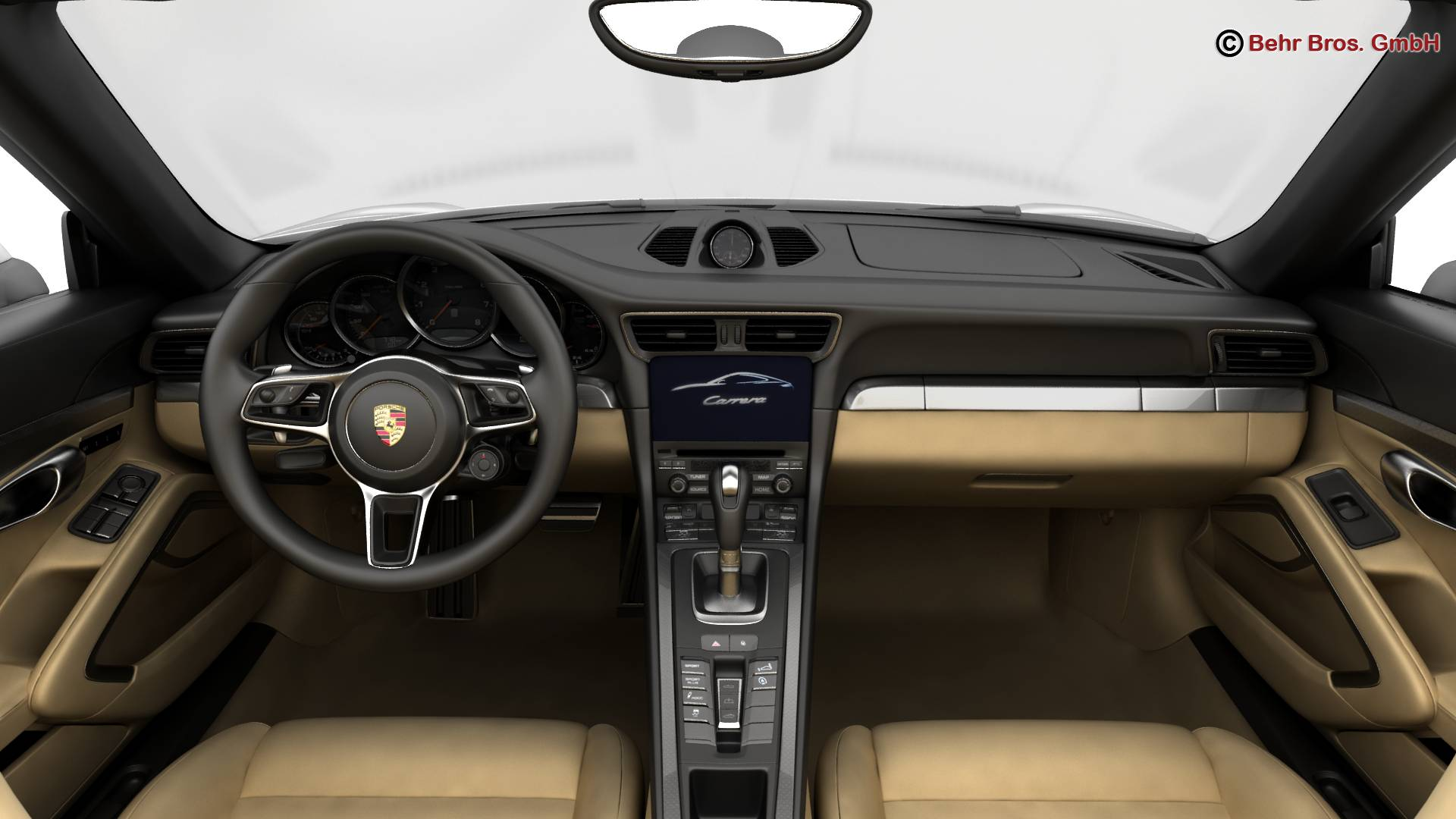 porsche 911 carrera cabriolet 2017 3d model 3ds max fbx c4d lwo ma mb obj 220802