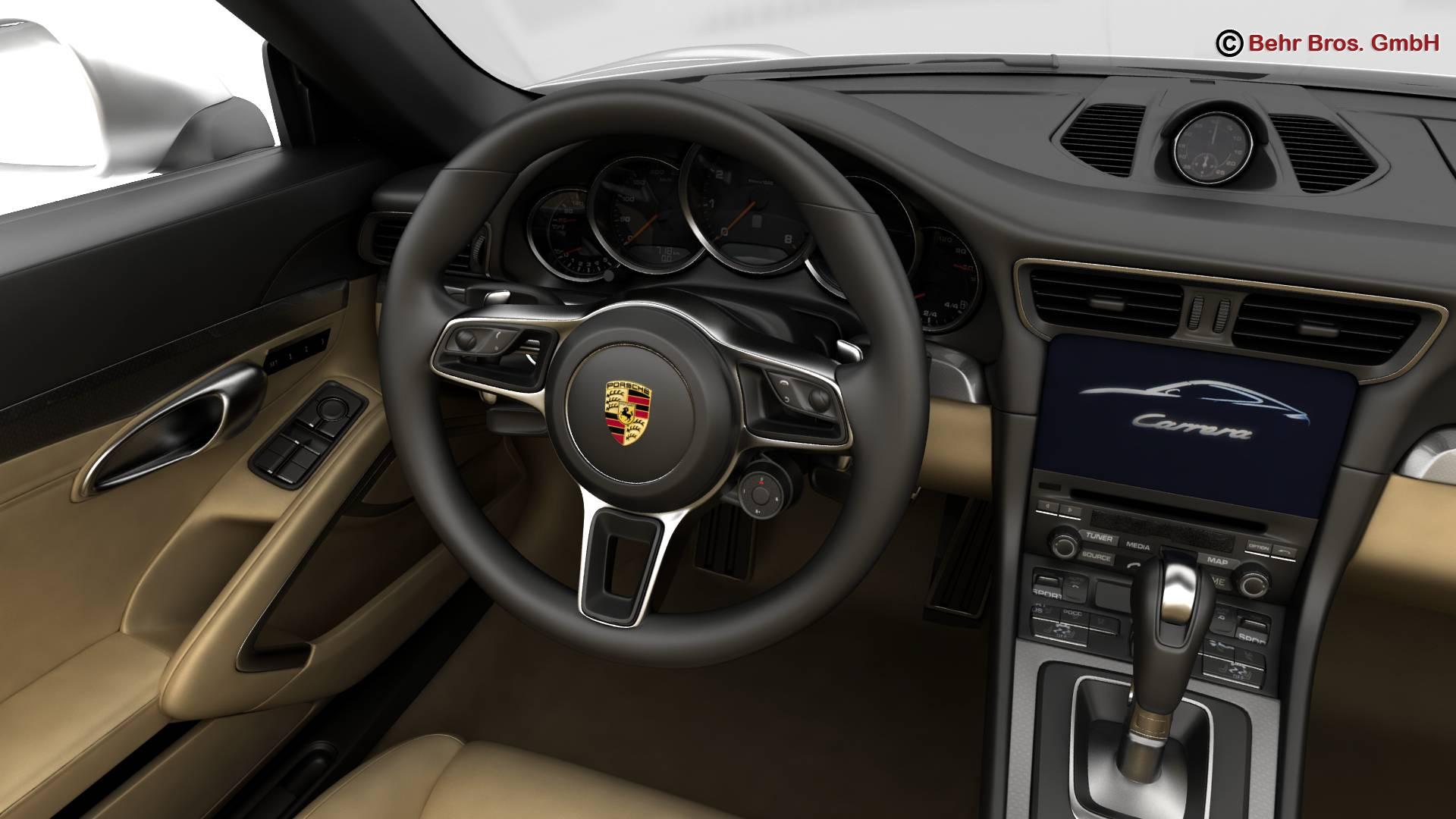 porsche 911 carrera cabriolet 2017 3d model 3ds max fbx c4d lwo ma mb obj 220803