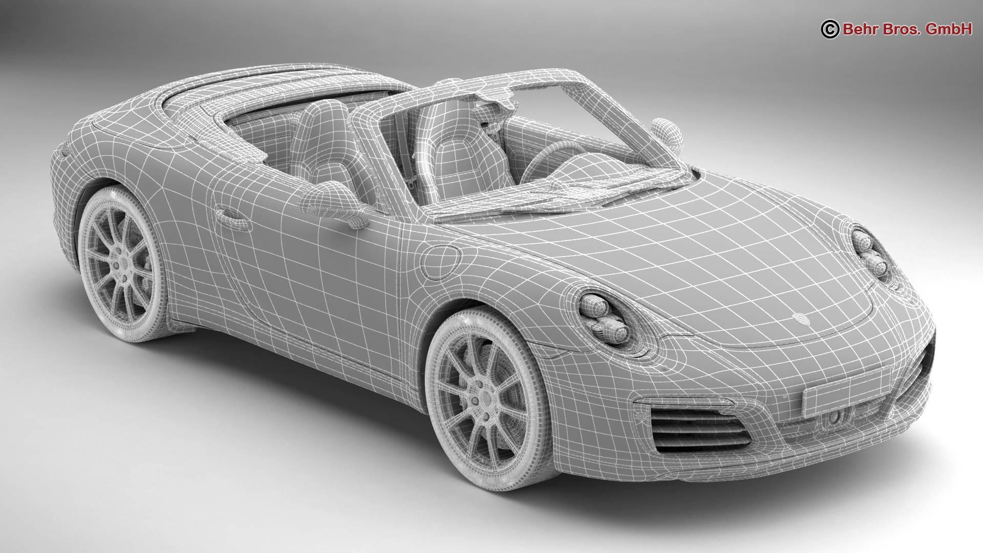 porsche 911 carrera cabriolet 2017 3d model 3ds max fbx c4d lwo ma mb obj 220804