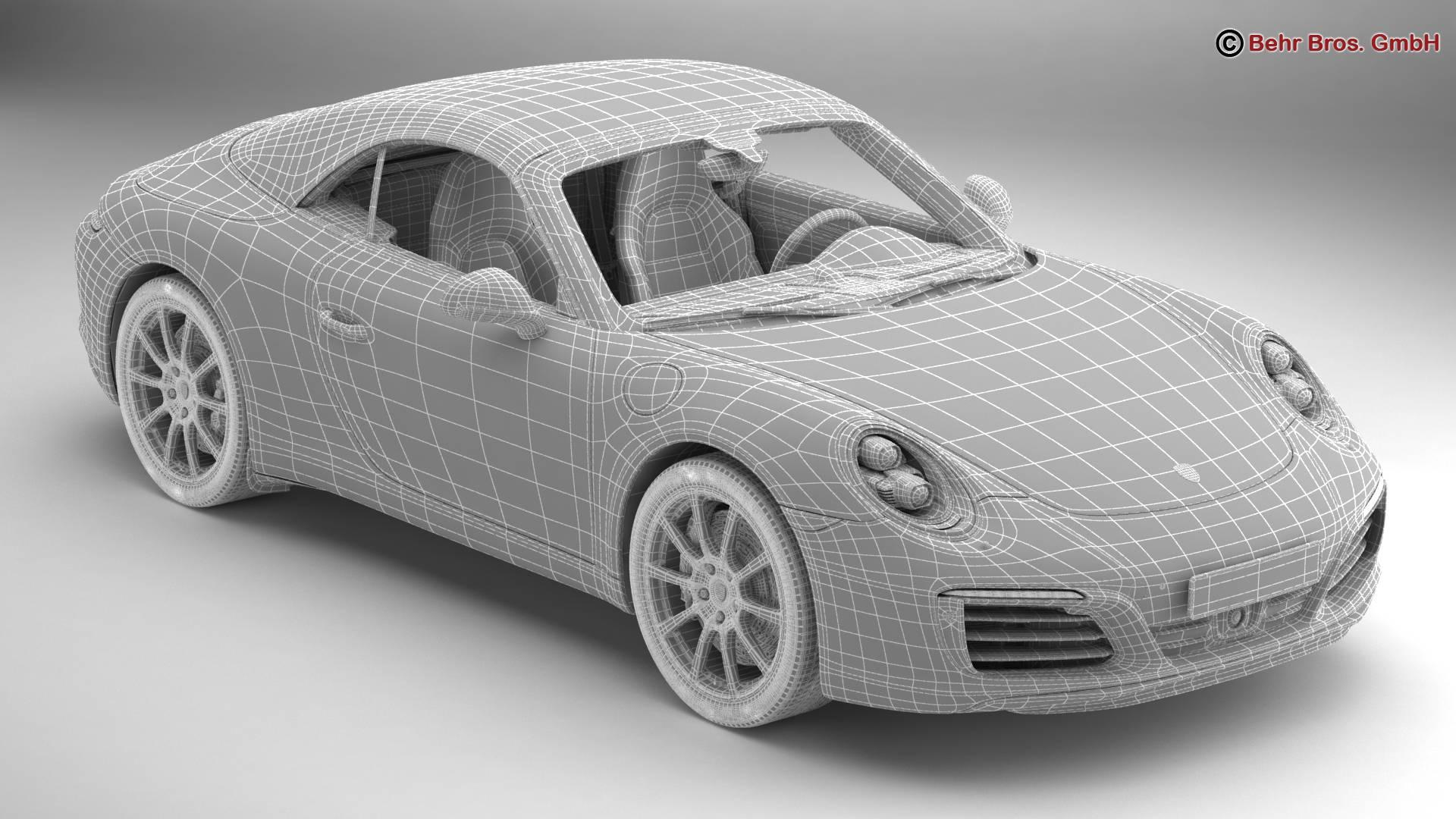 porsche 911 carrera cabriolet 2017 3d líkan 3ds max fbx c4d lwo ma mb obj 220805